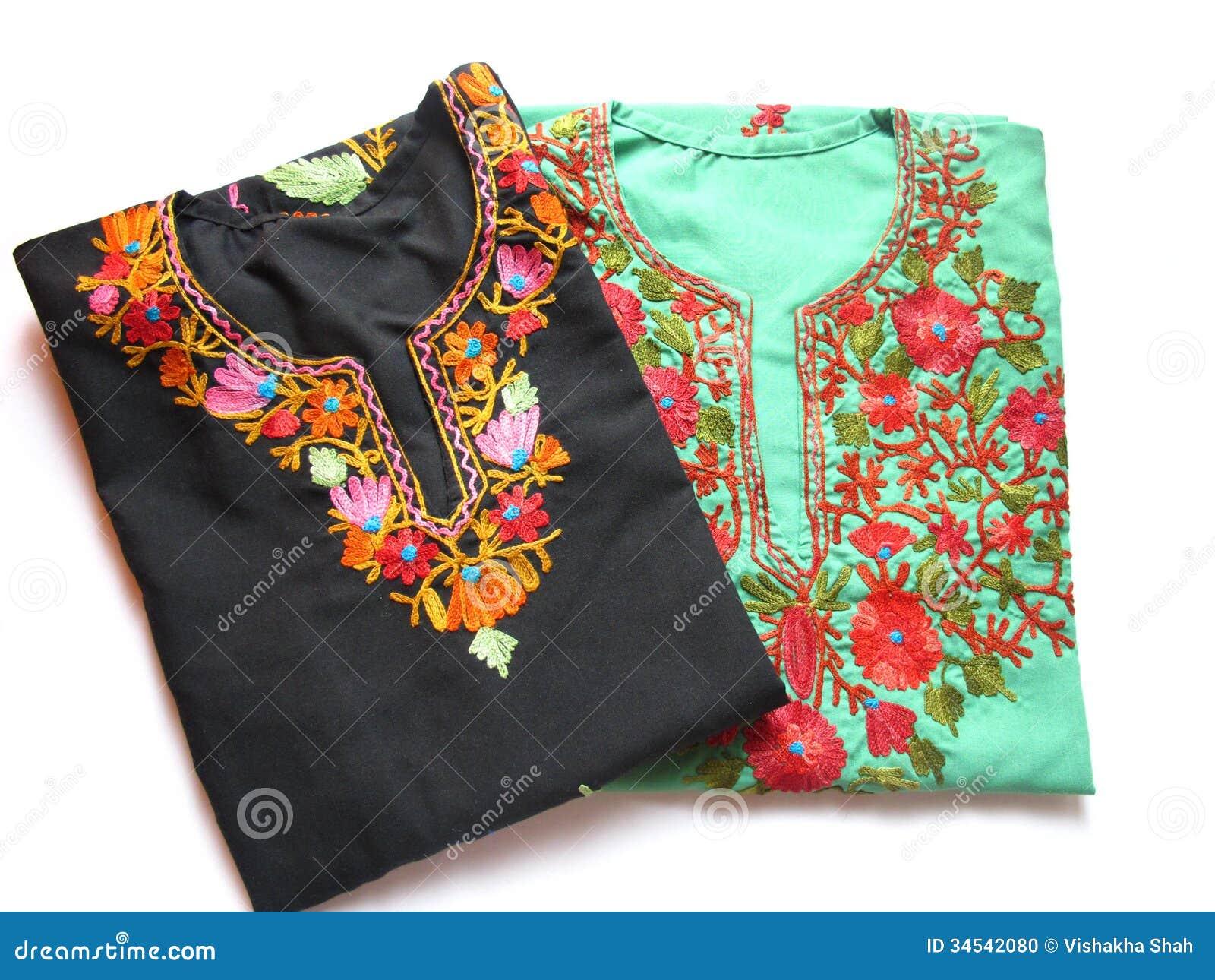 Kashmiri Embroidery Kurtis Stock Photo Image Of Isolated 34542080
