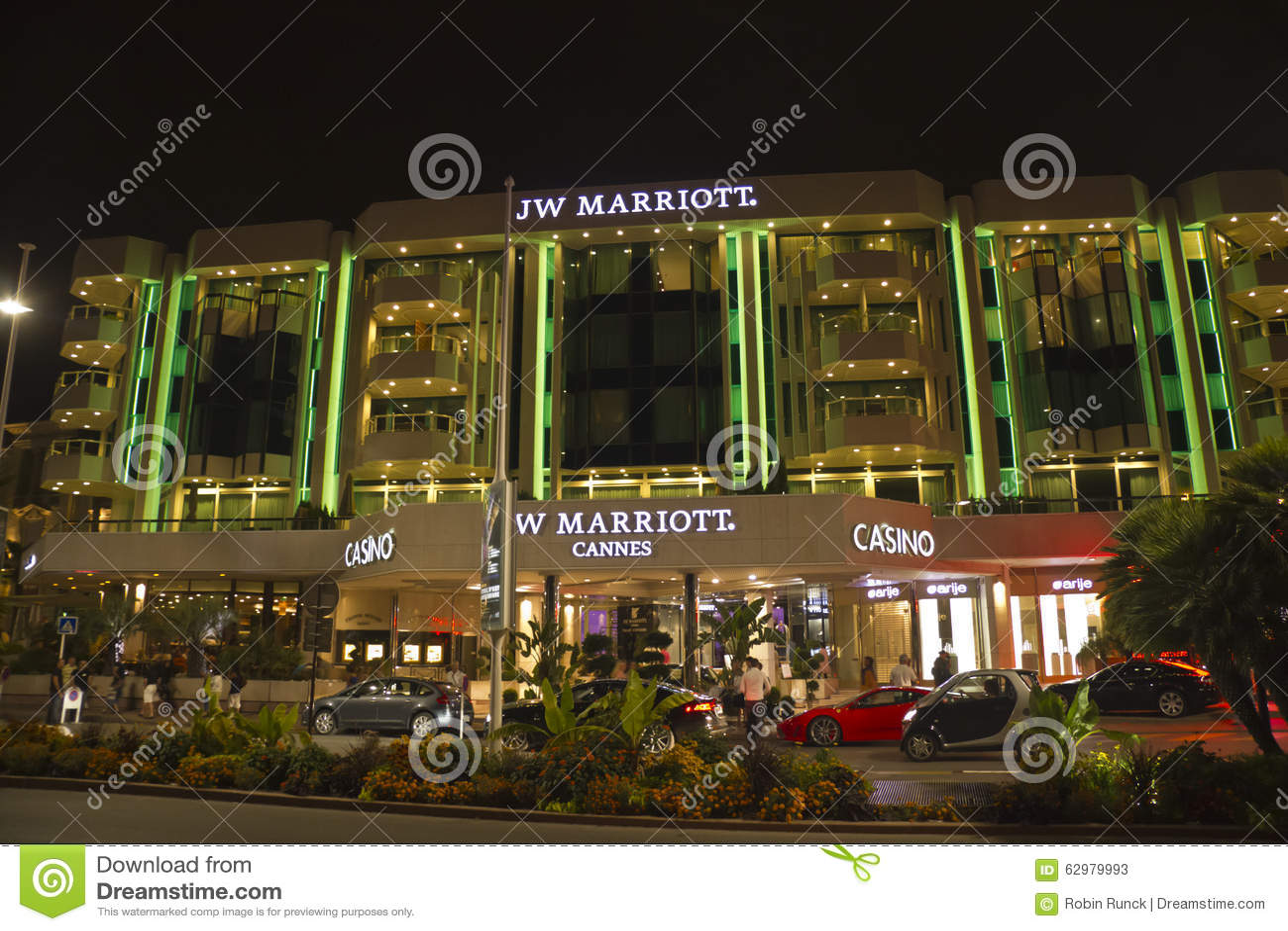 Kasino i Cannes på natten