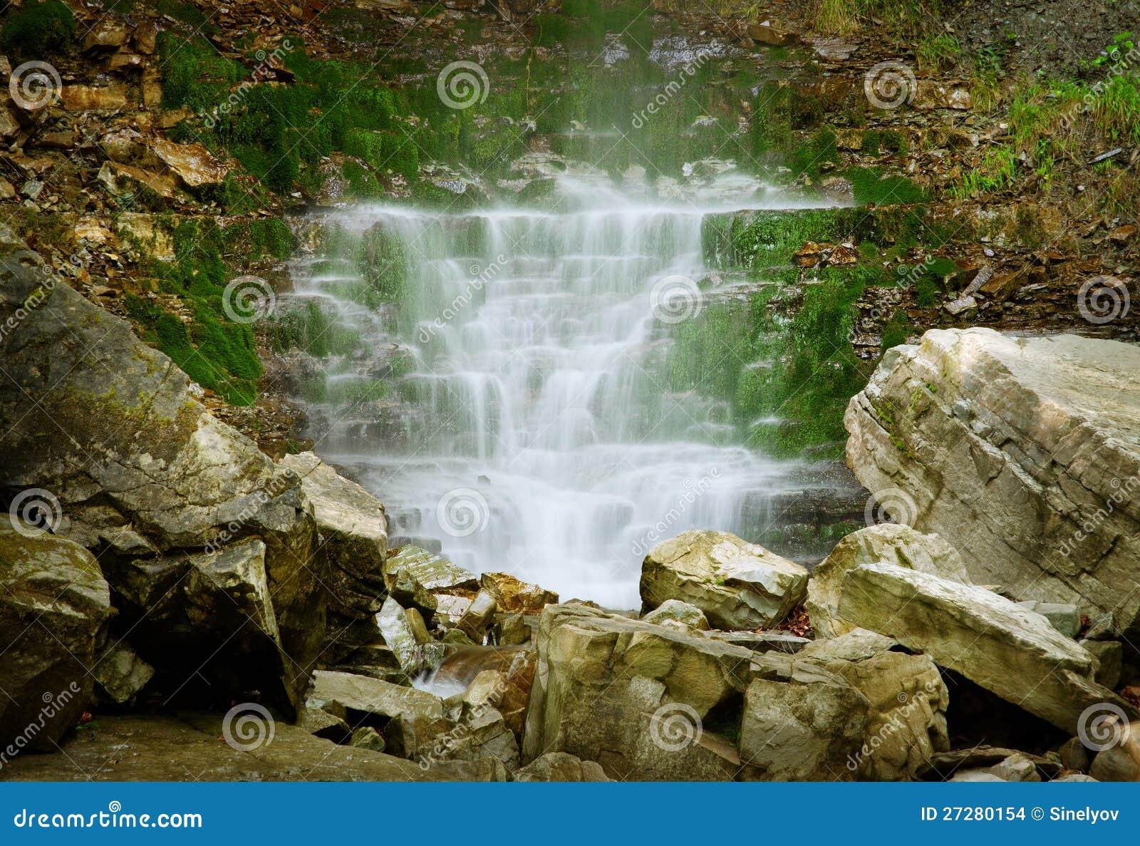 Kaskad av vattenfall