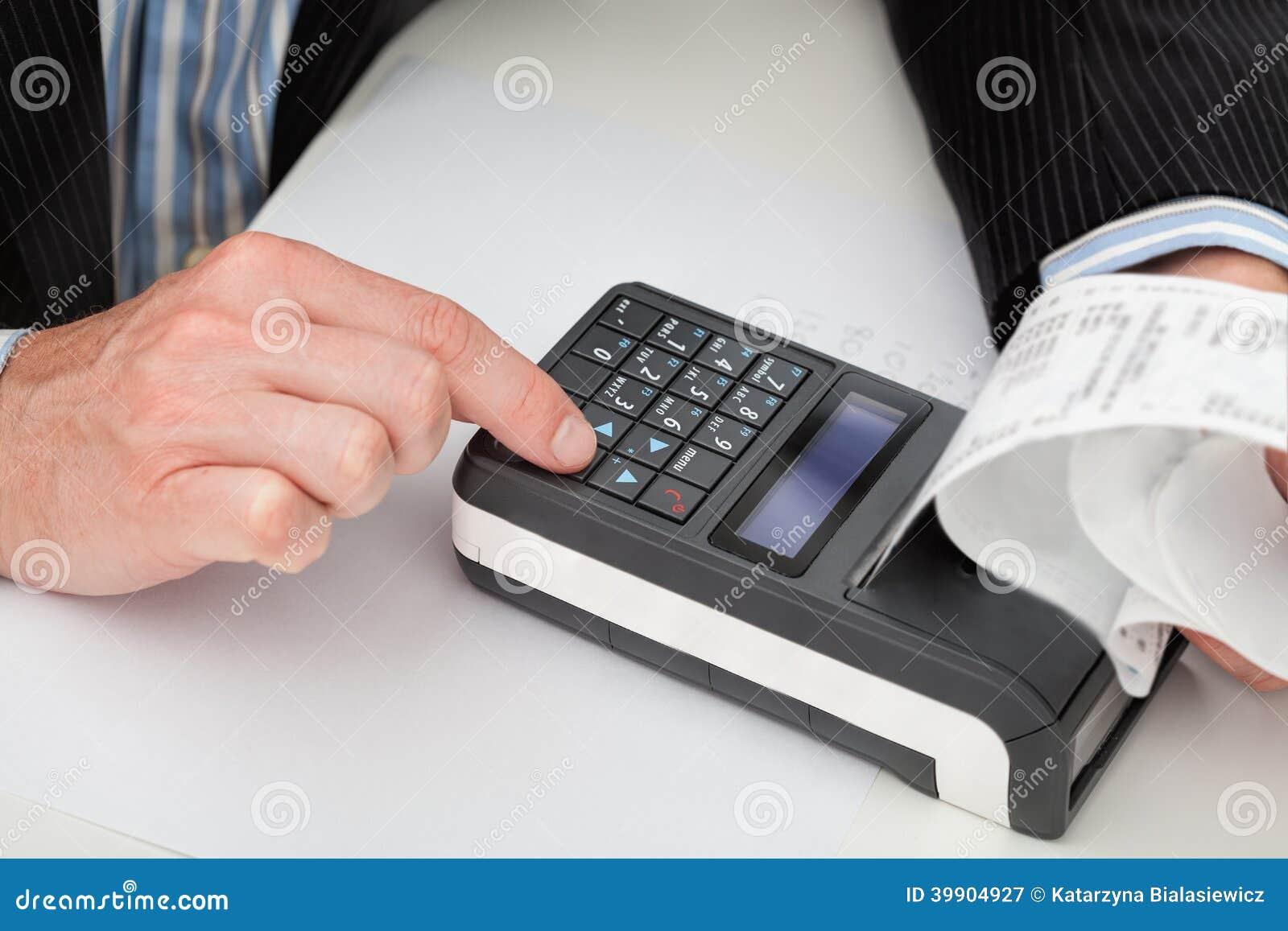 Kassaapparat och kvitto