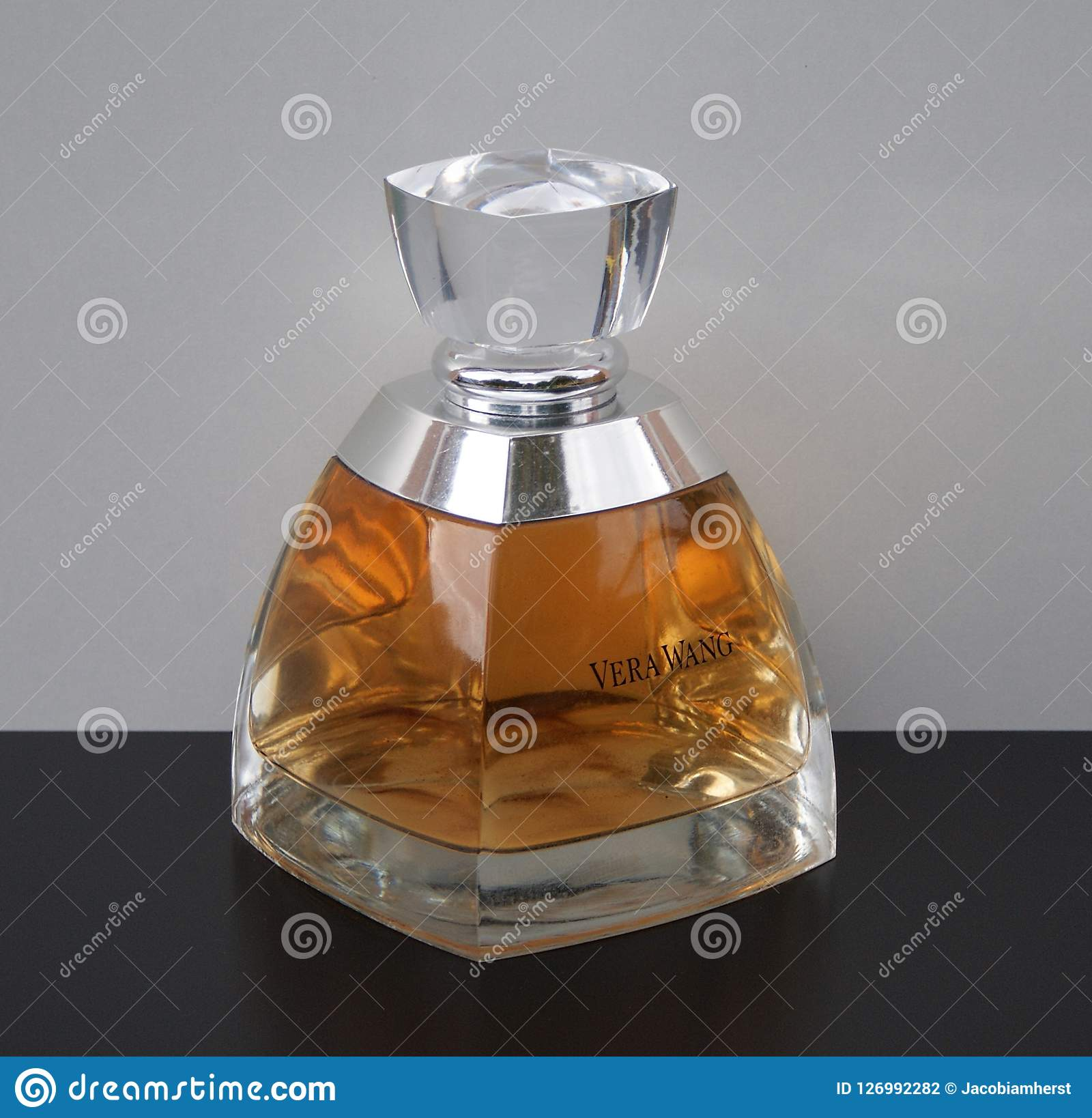 Vera Wang Fragrance For Ladies Large Perfume Bottle Editorial Photography Image Of Close Care 126992282