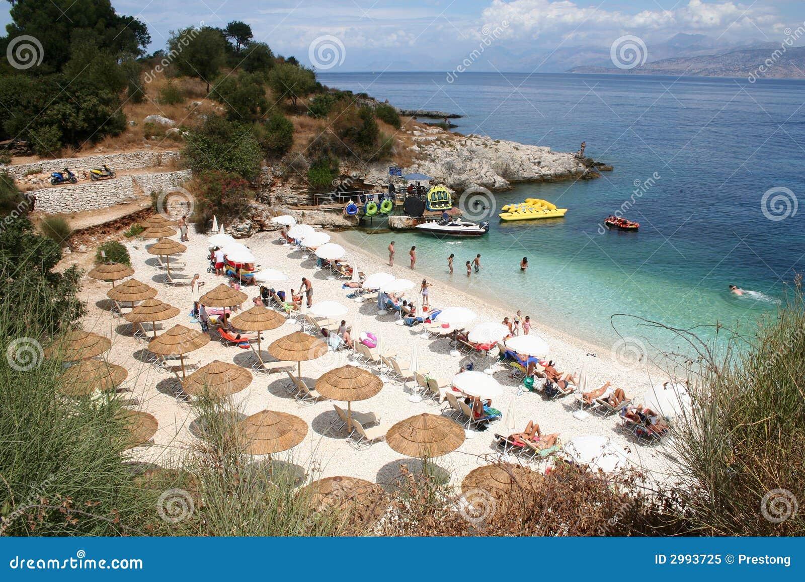 Kassiopi Beach, Corfu, Greece.