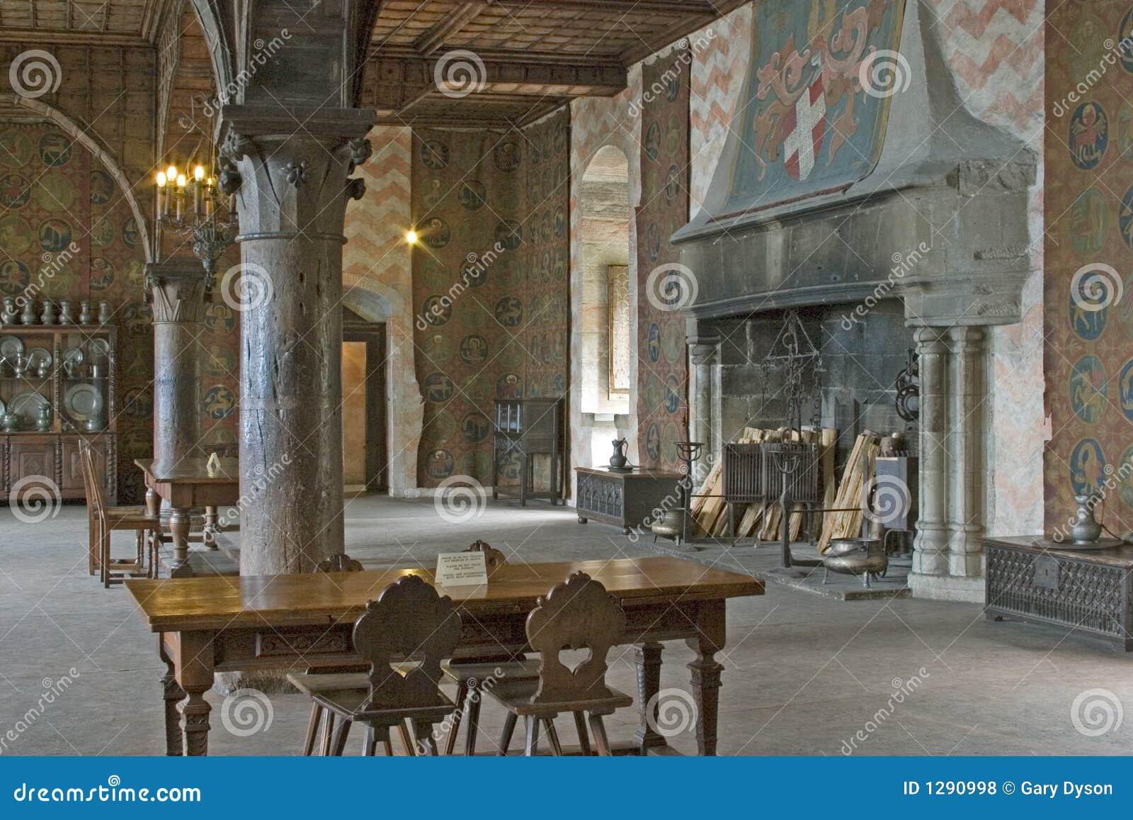 Kasteel Chillon, Dichtbij Montreux, Meer Gen u00e8ve, Zwitserland, 200 Mei Royalty vrije Stock Foto u0026#39;s