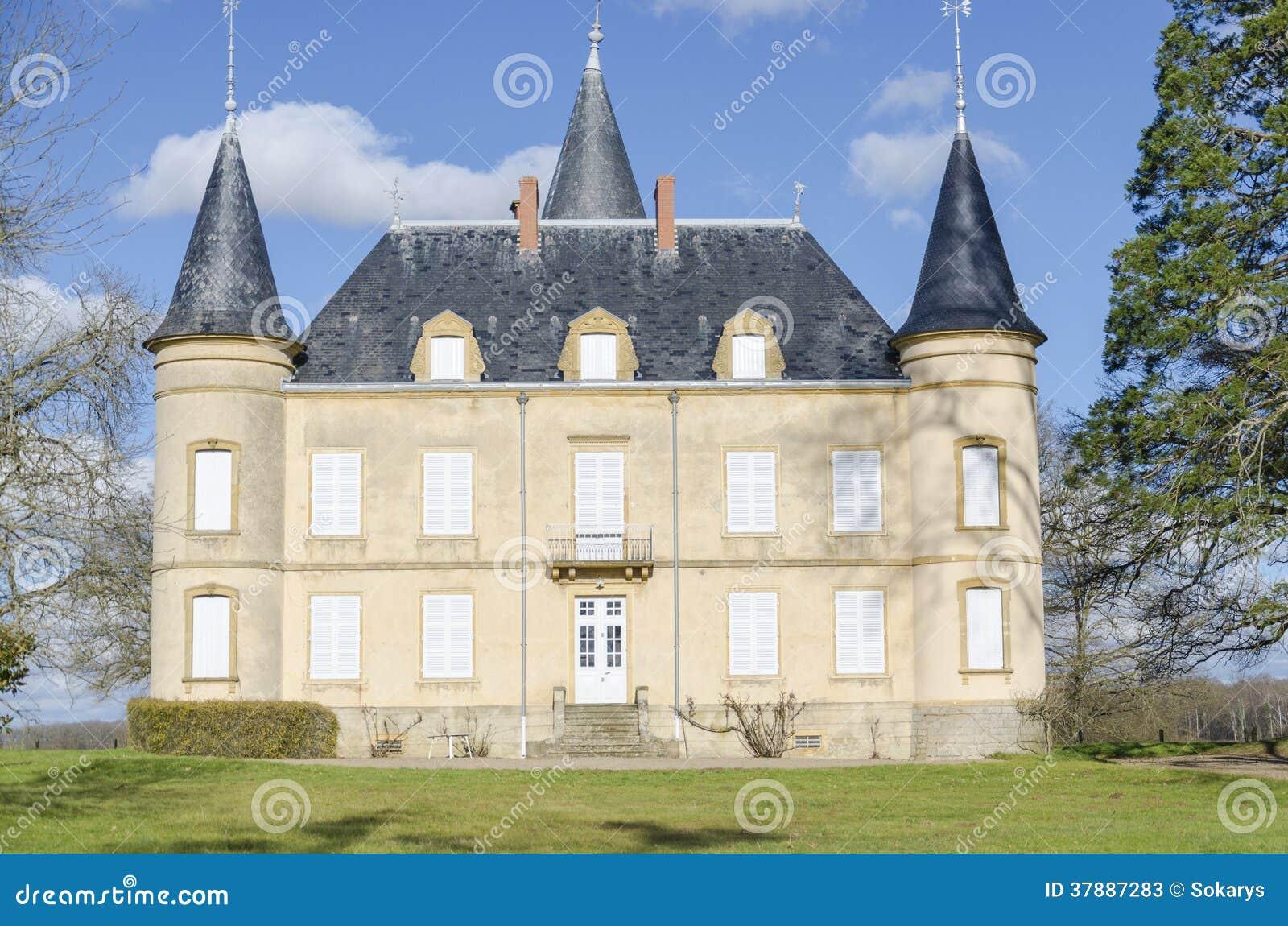 Kasteel van Clessy, Bourgondië, Frankrijk, saone-et-Loire