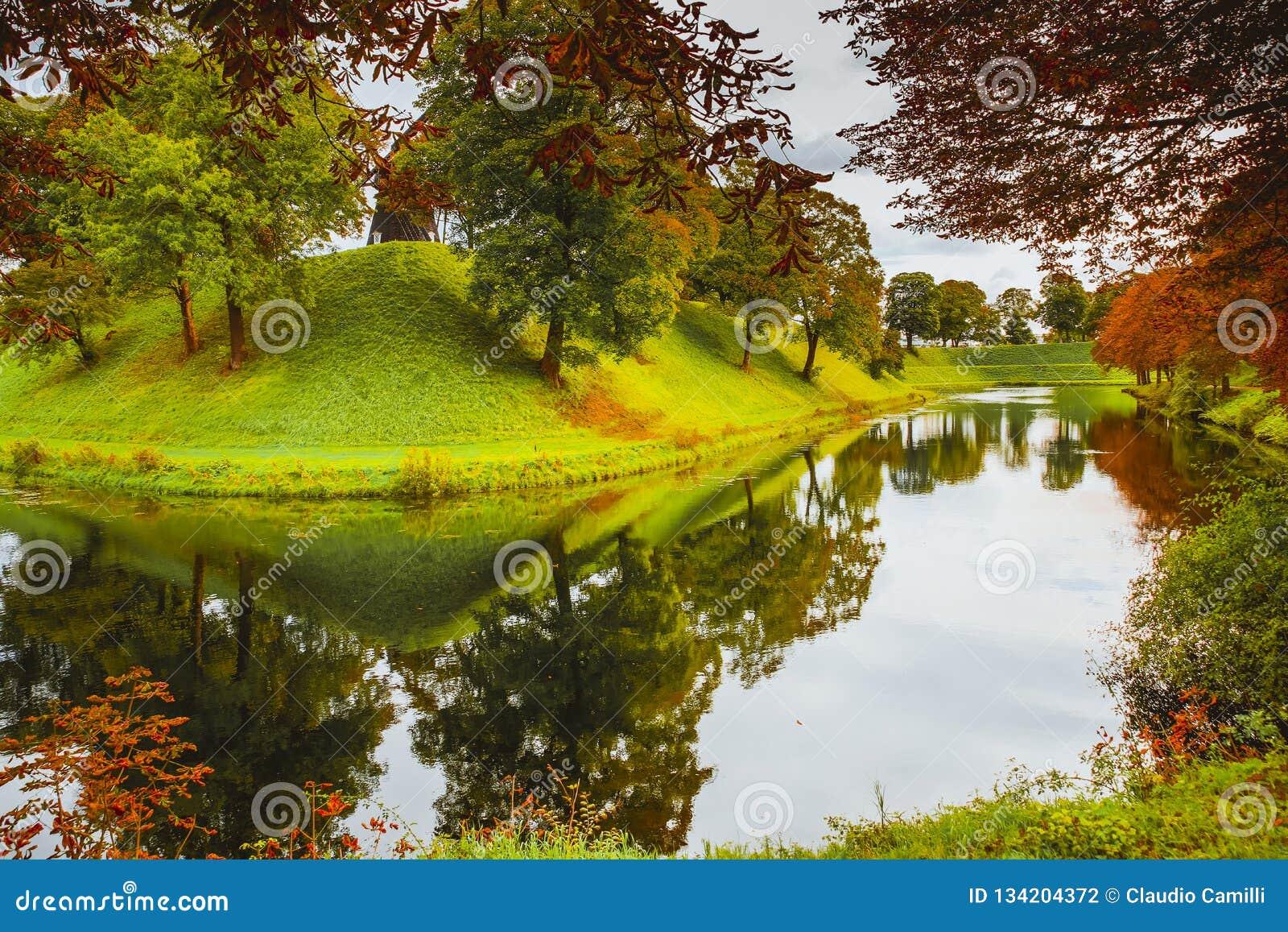 Kastellet park w Copenaghen mieście