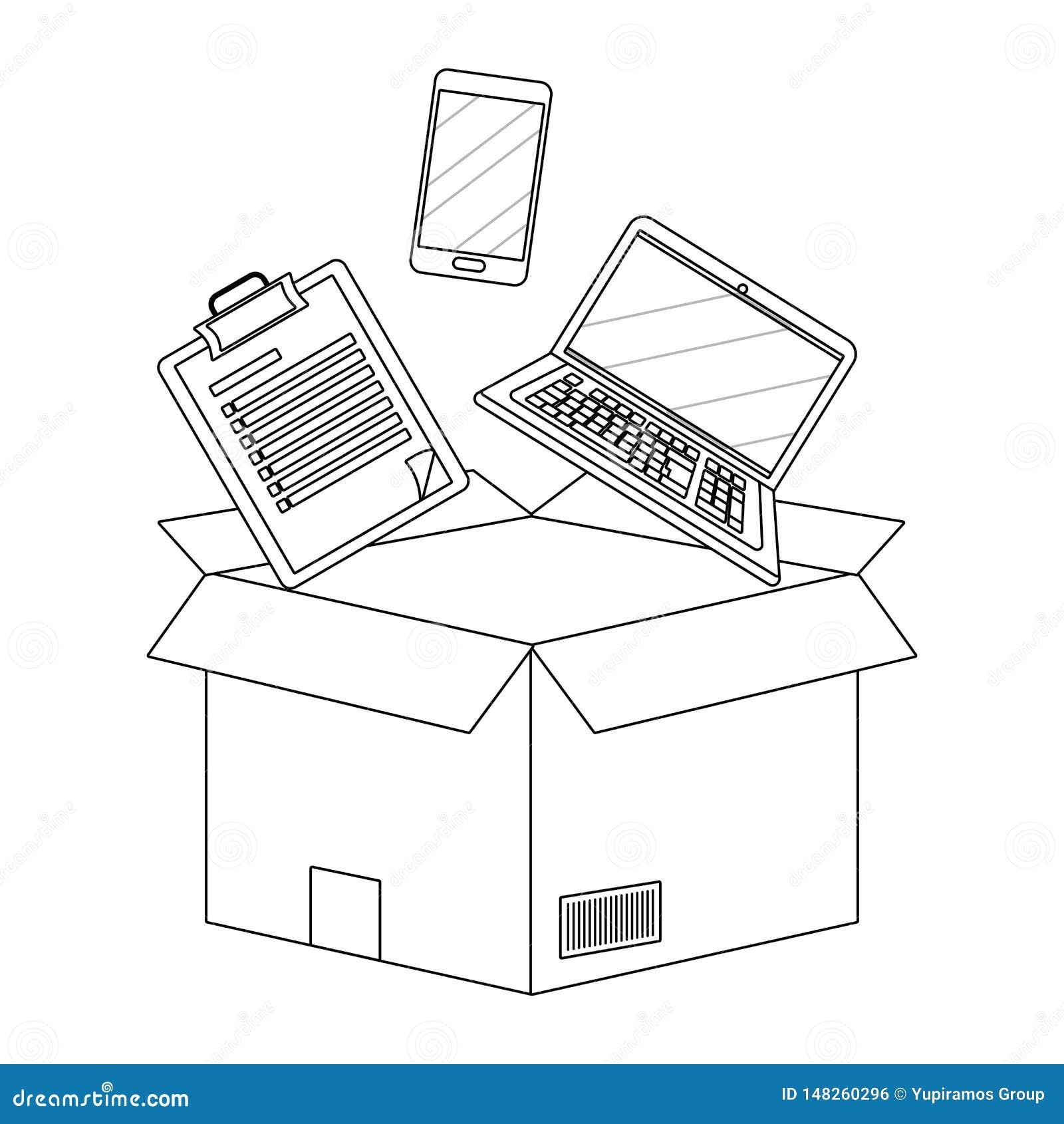 Kasten mit Checkliste in Schwarzweiss