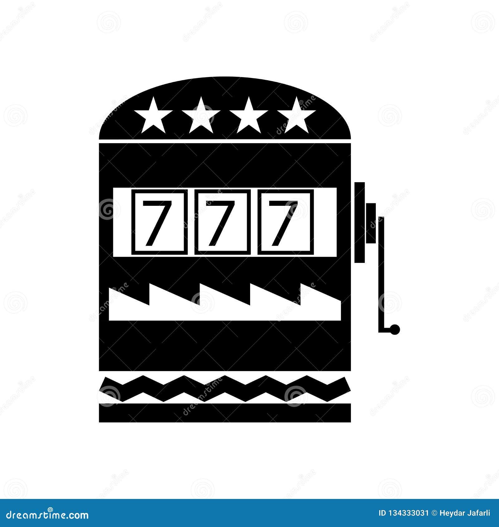 Kasynowy ikona wektoru znak i symbol odizolowywający na białym tle, Kasynowy logo pojęcie