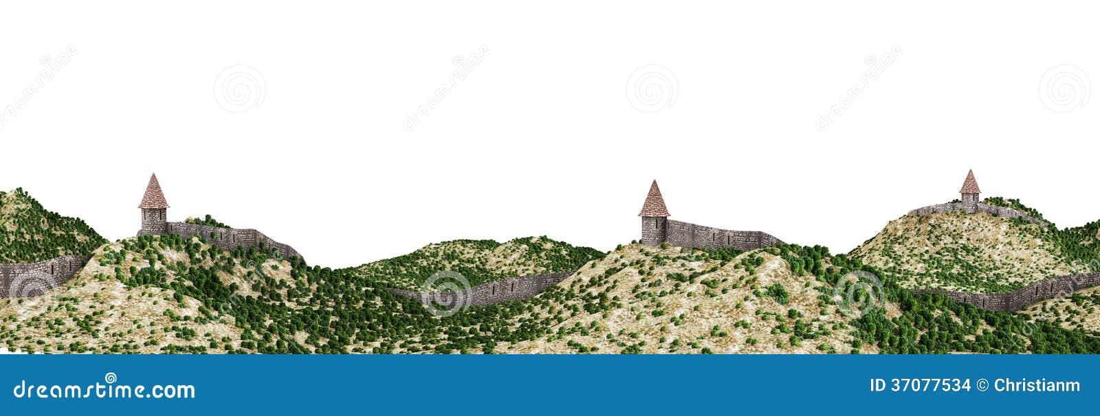 Download Kasztel ściany ilustracji. Ilustracja złożonej z ograniczenie - 37077534