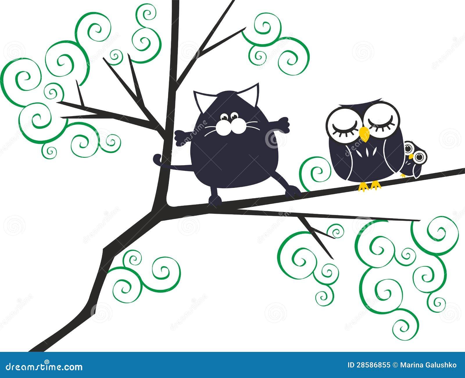 Kat en uilen