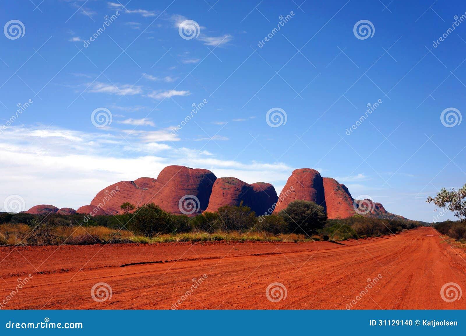 Kata Tjuta olgas, uluru ayer rots, het binnenland van Australië