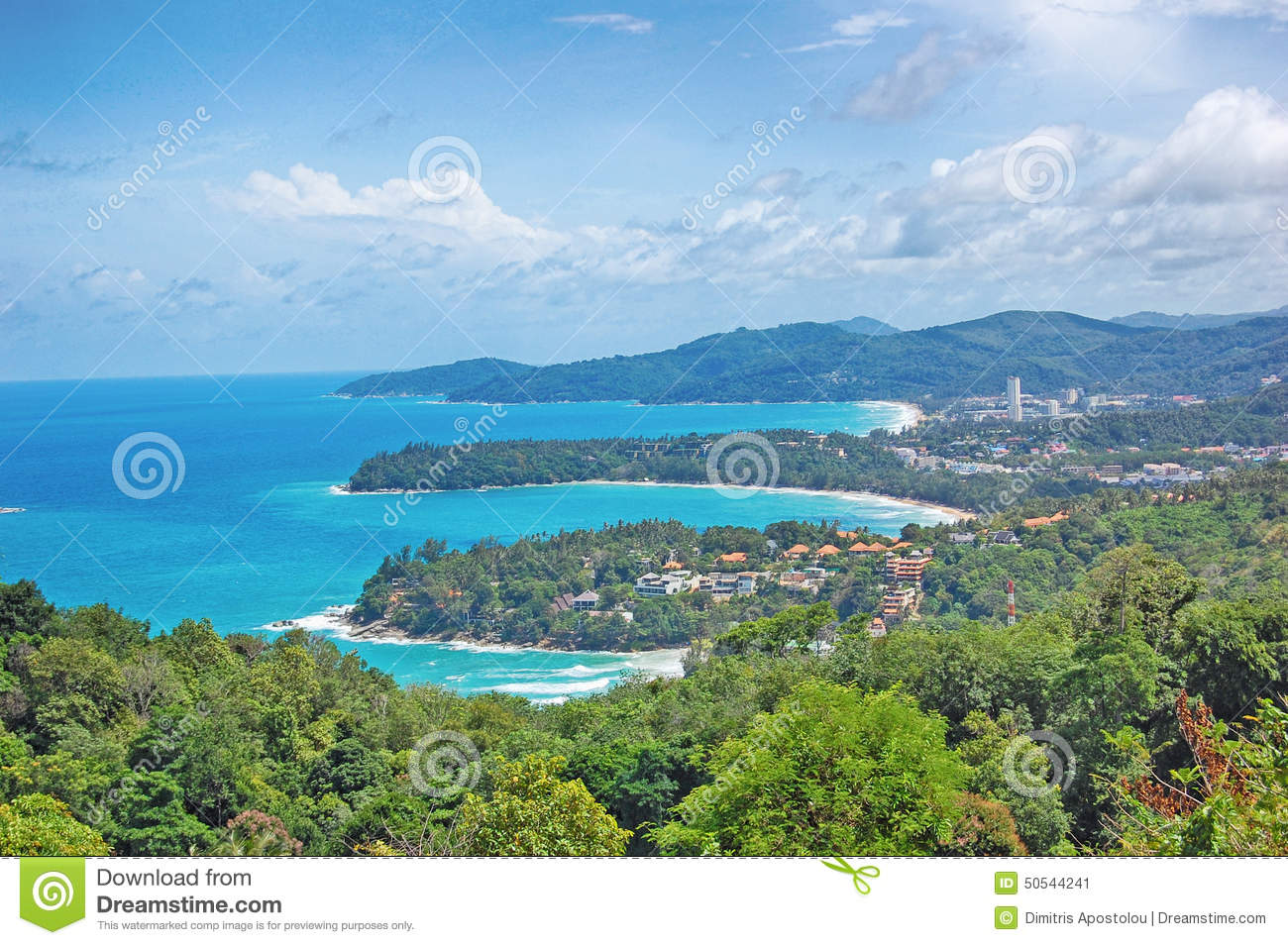 Kata Viewpoint On Phuket Island Thailand Kata Stock