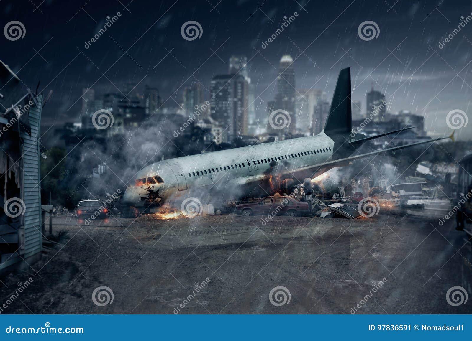 Katastrofa samolotu, rozbijający samolot, lotniczy wypadek
