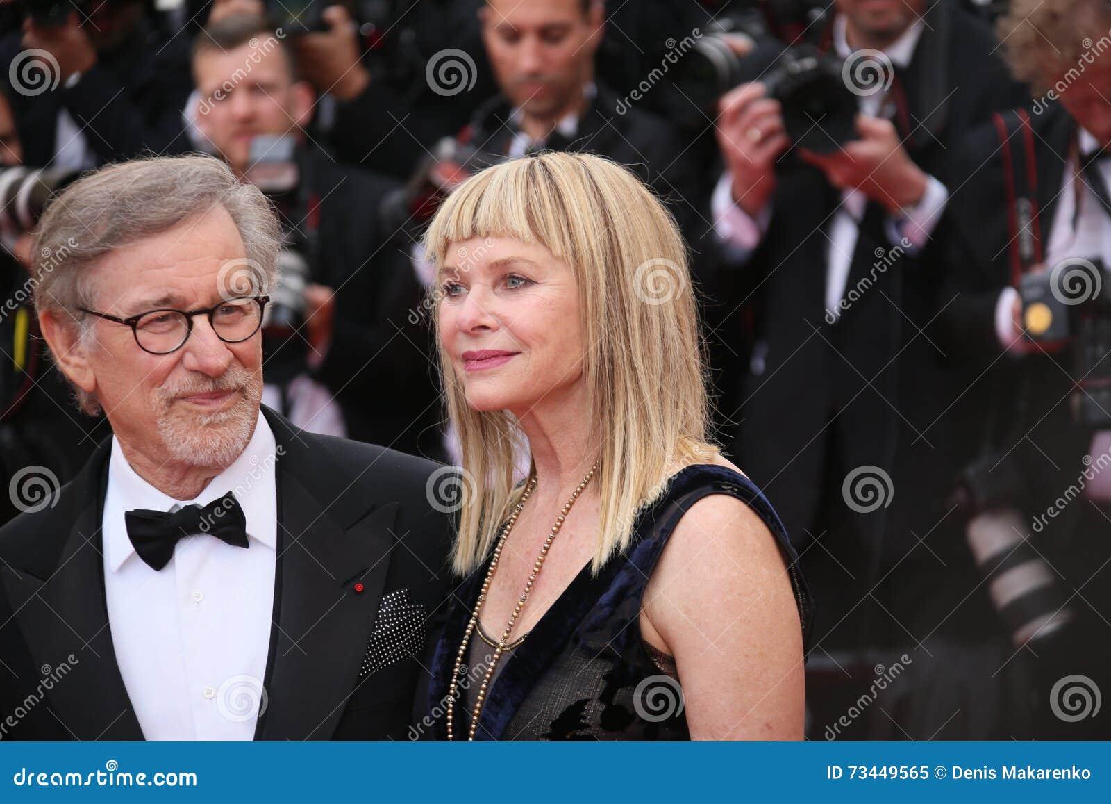 Kate Capshaw Steven Spielberg Editorial Image Image Of Premier