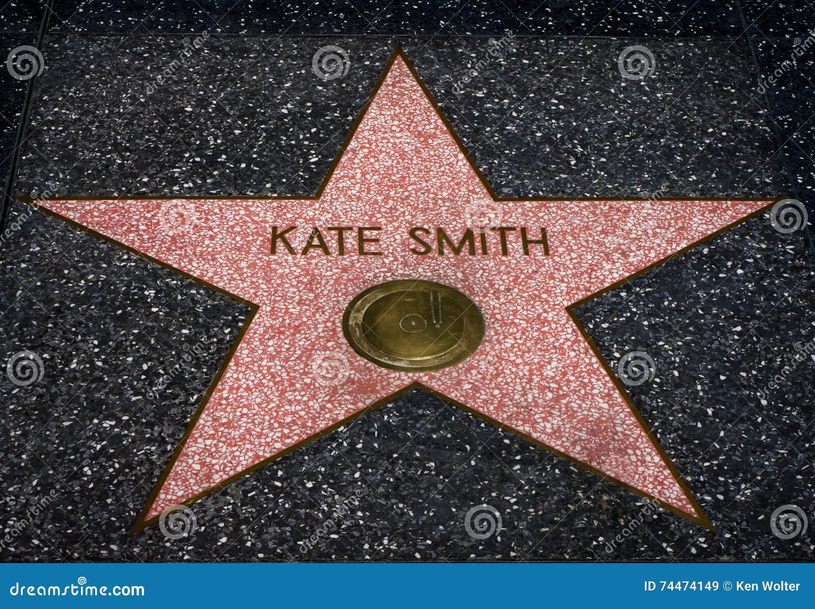 Kate Smith-ster op de Hollwyood-Gang van Bekendheid