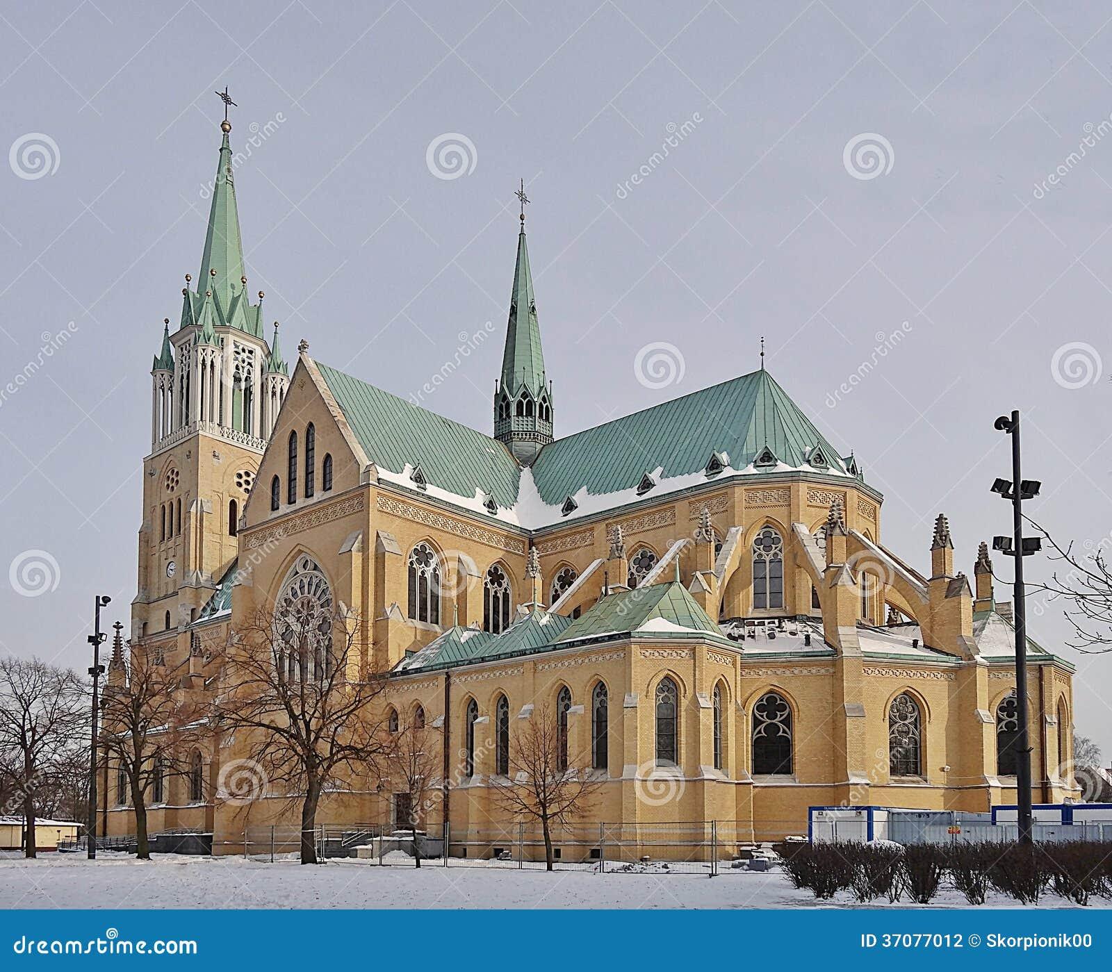 Download Katedra, Łódzka, Polska zdjęcie stock. Obraz złożonej z lodz - 37077012
