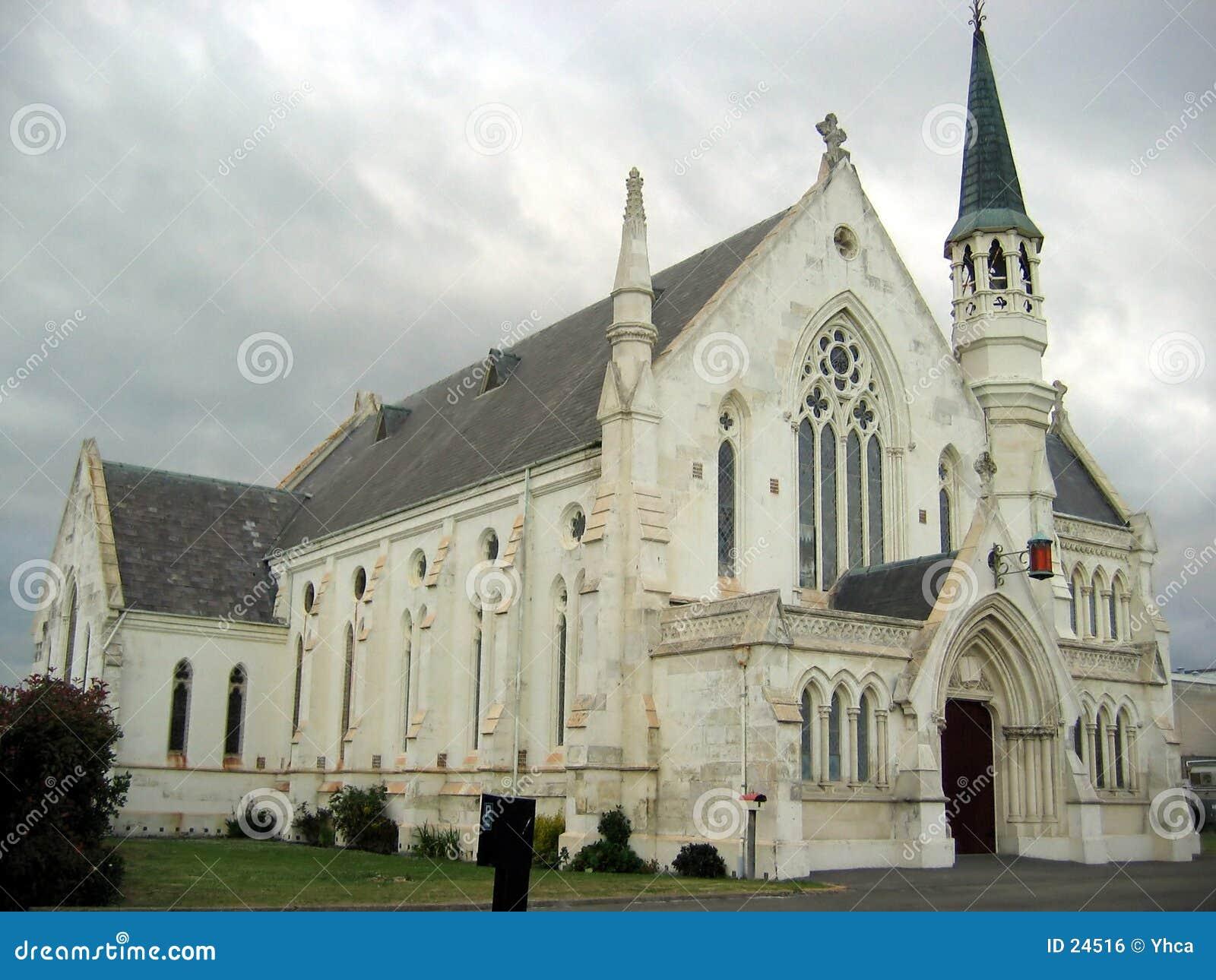 Katedra szczegóły zewnętrznego nowej Zelandii