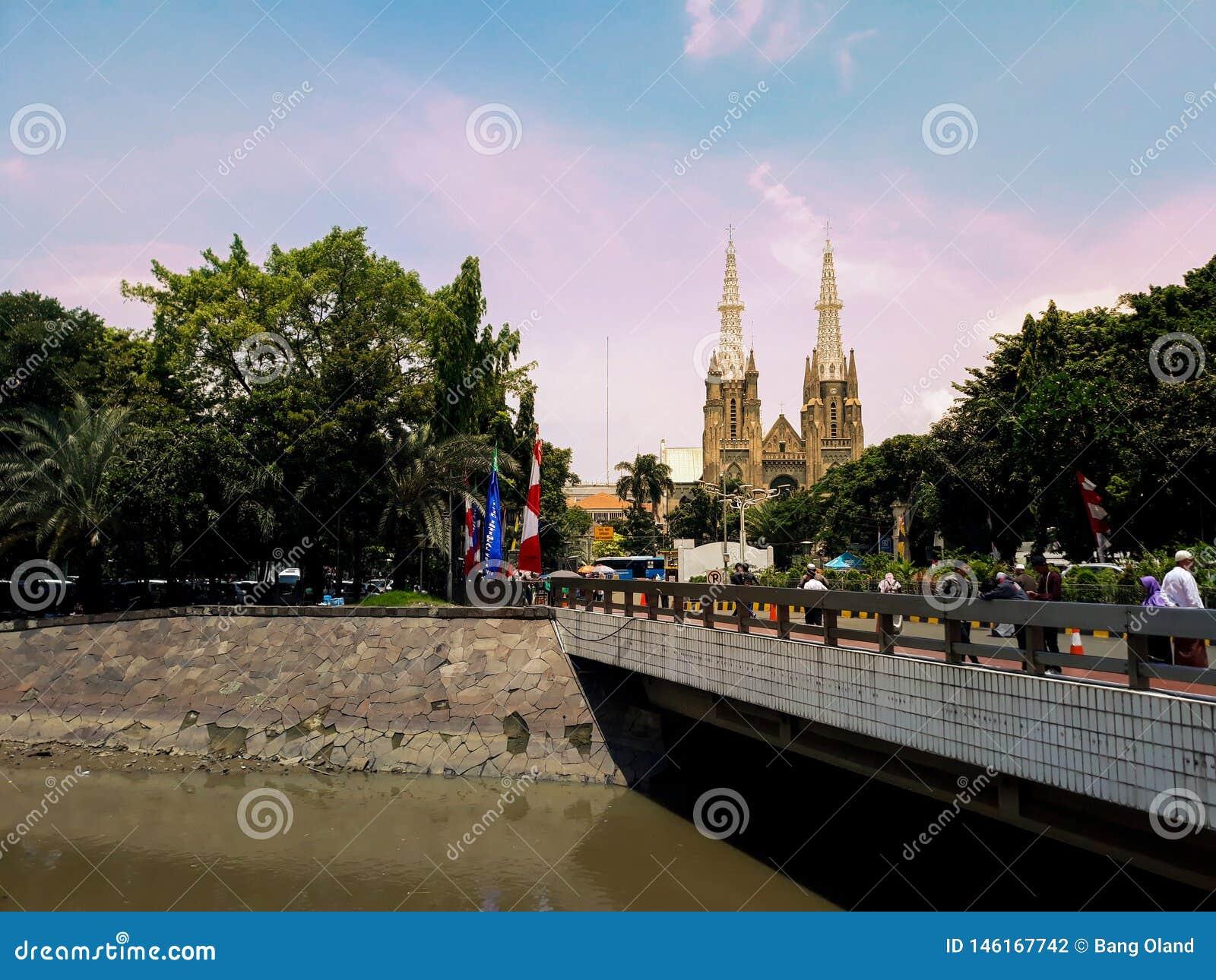 Katedral教会建筑学在雅加达