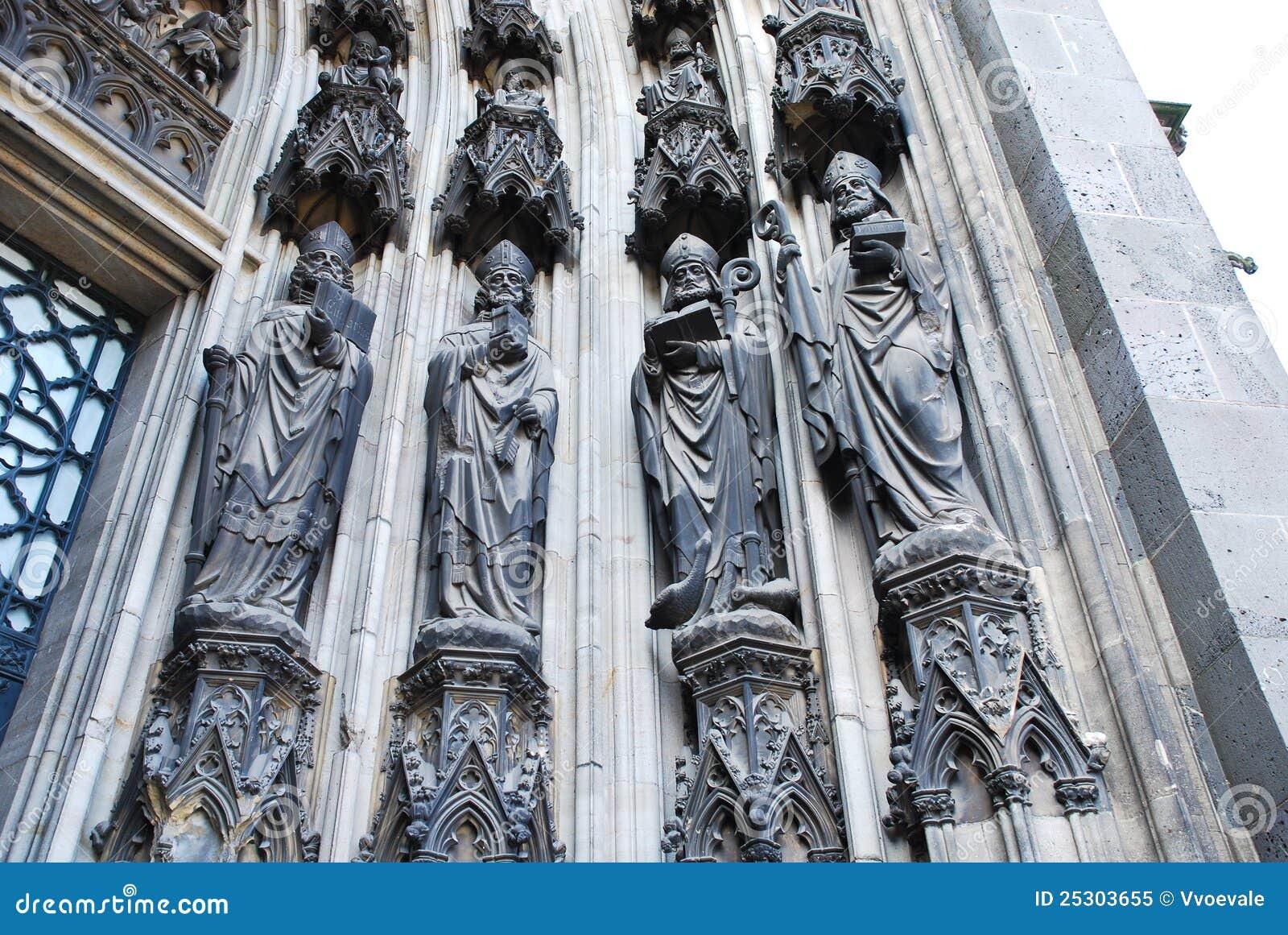 Katedralna cologne bramy rzeźba