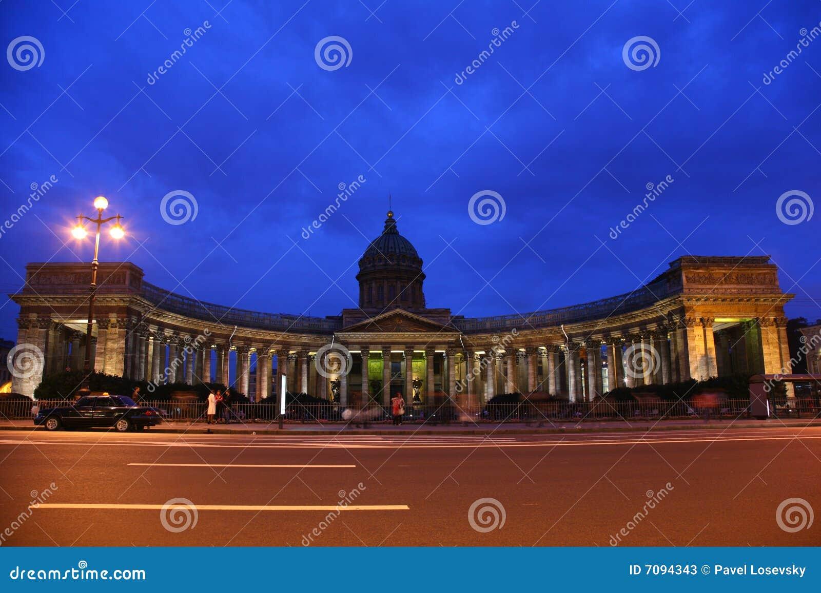 Katedralny Kazan noc Petersburg st