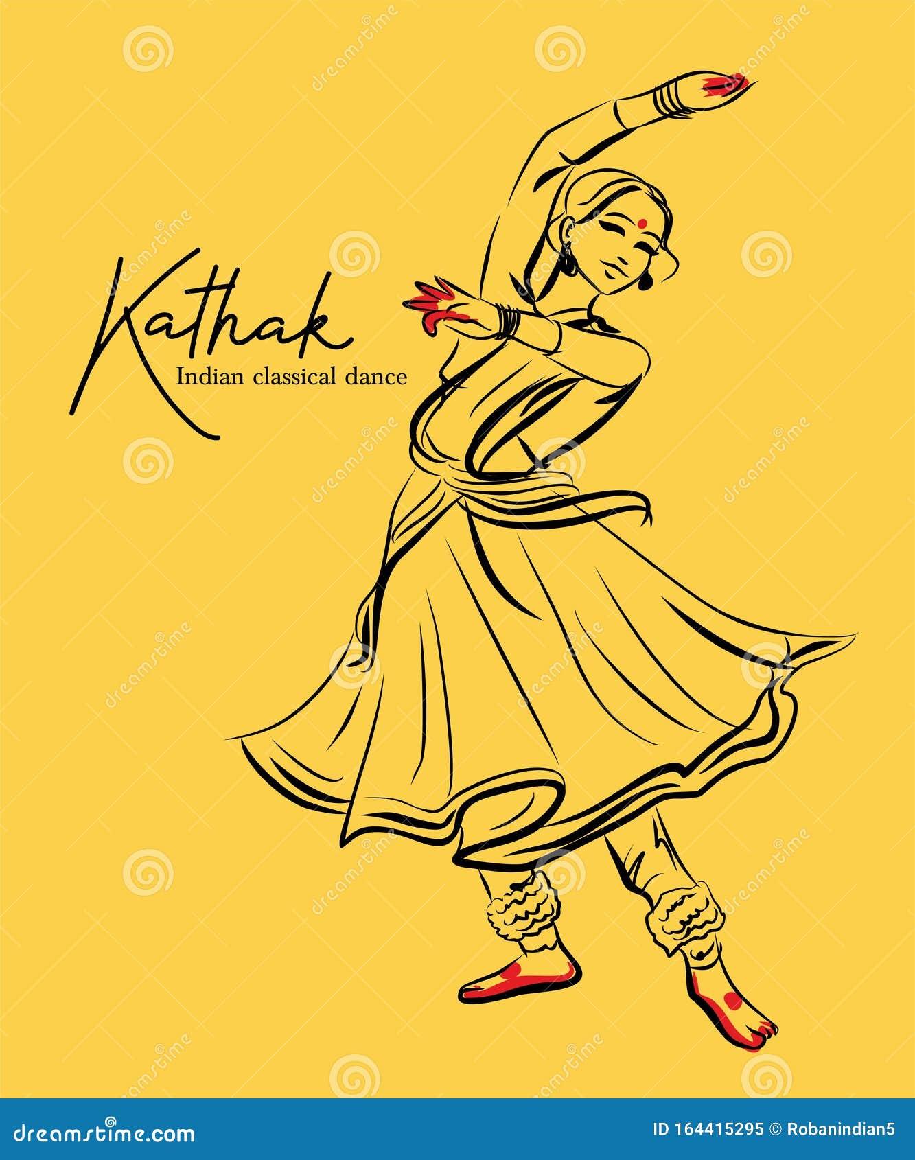 Kathak Dance Stock Illustrations 69 Kathak Dance Stock Illustrations Vectors Clipart Dreamstime
