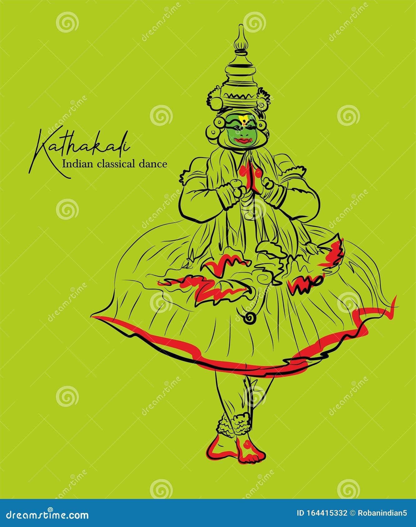 Kathakali Dance Stock Illustrations 549 Kathakali Dance Stock Illustrations Vectors Clipart Dreamstime