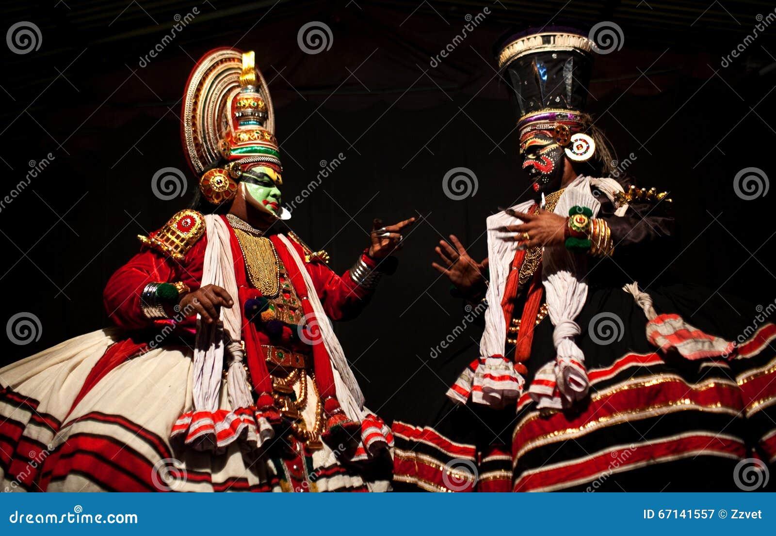Kathakali Dance In Kerala, India Editorial Photography
