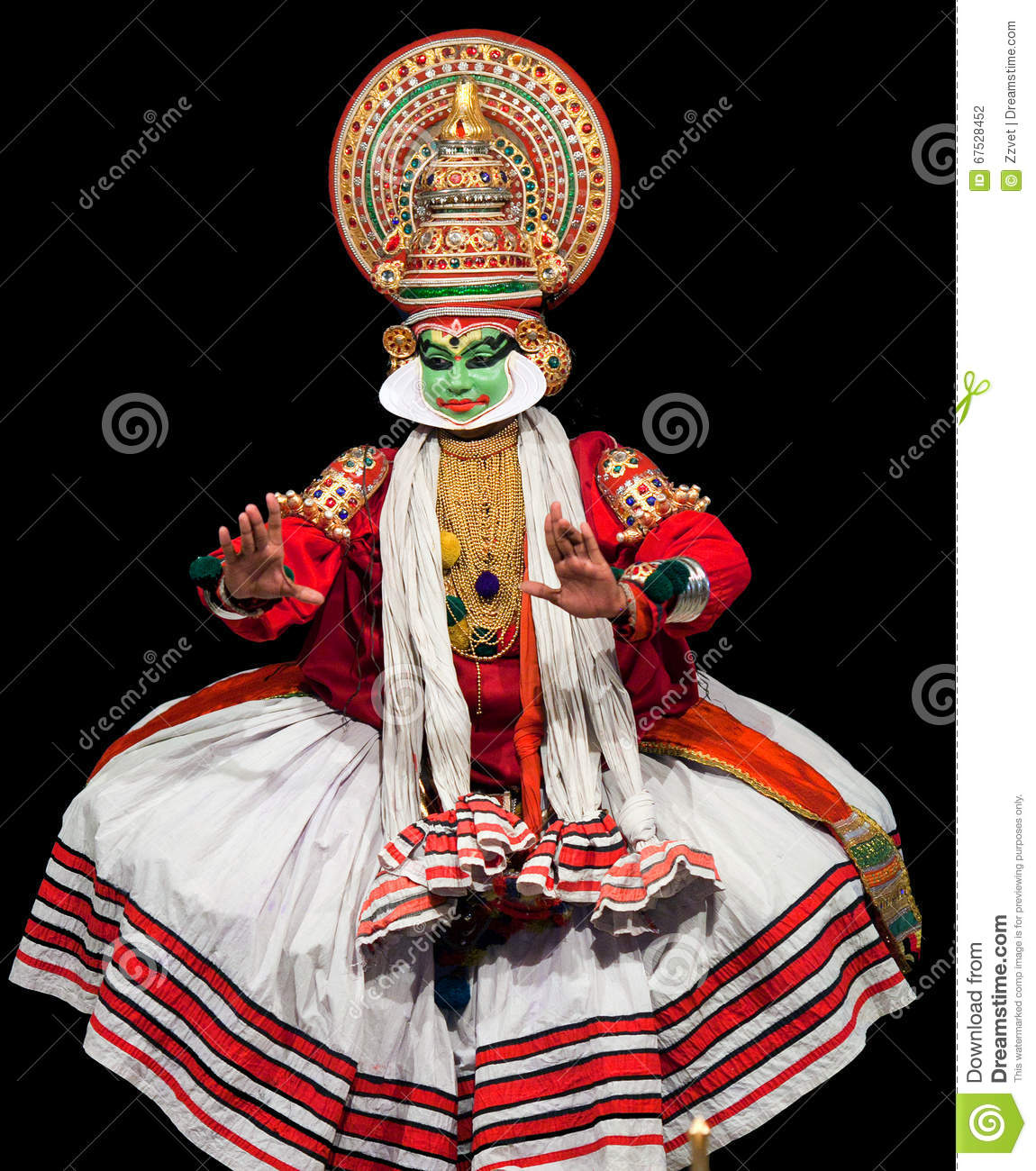 South Indian Traditional Kathakali Dancer Vector -1939