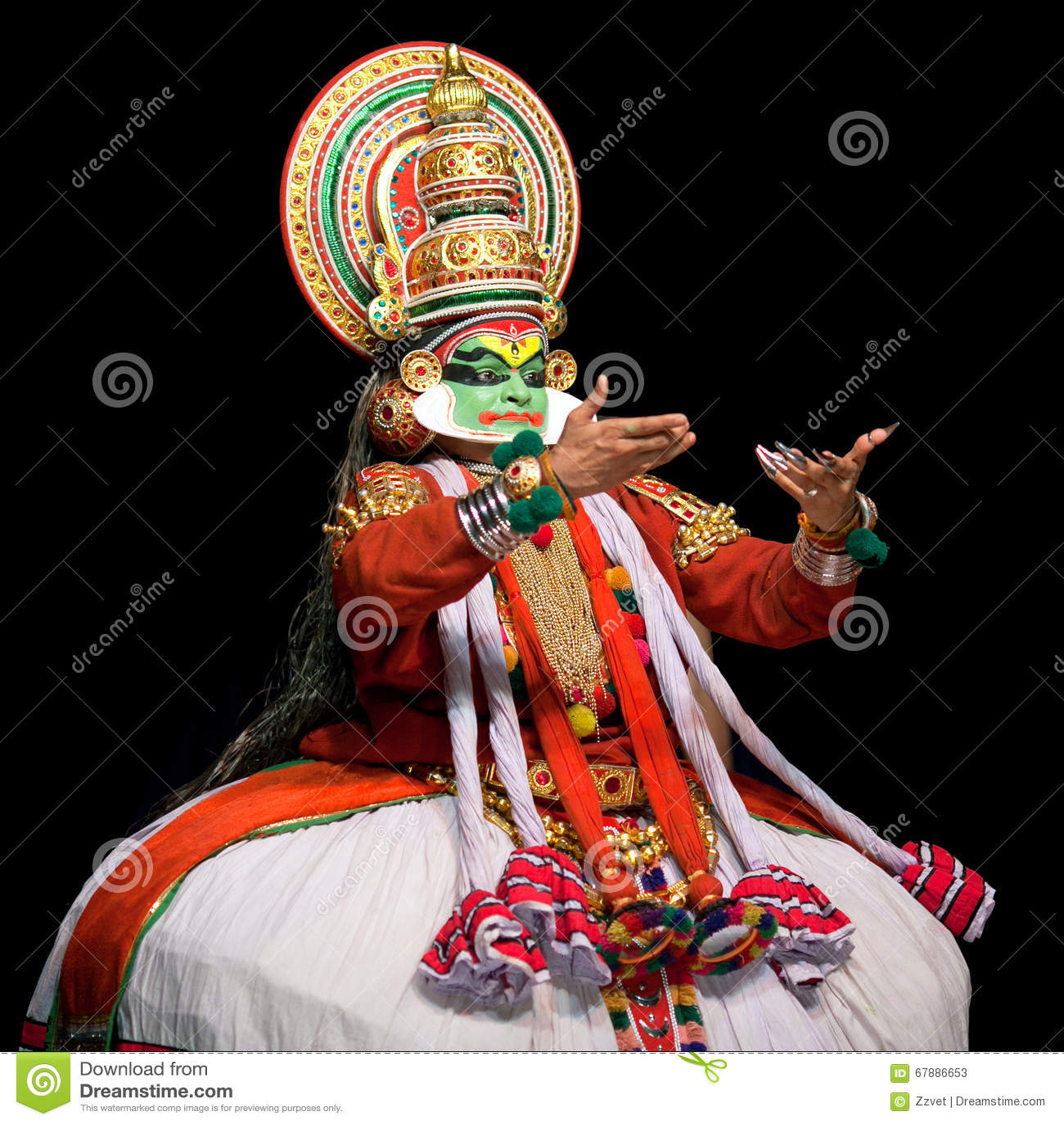 Kathakali Dance In Kerala, South India Editorial Stock Photo