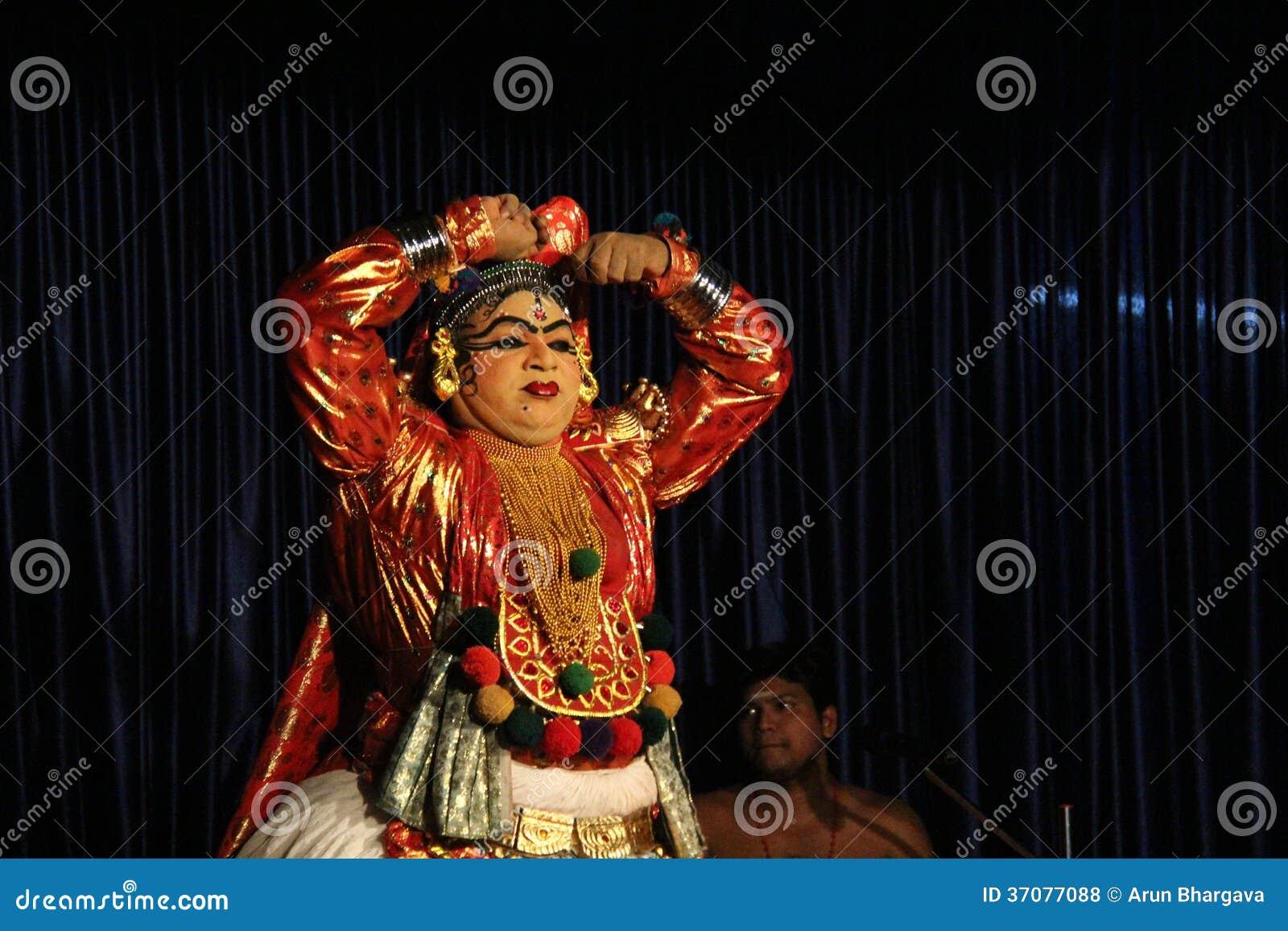 Download Kathakali Dander zdjęcie stock editorial. Obraz złożonej z gestykulujący - 37077088