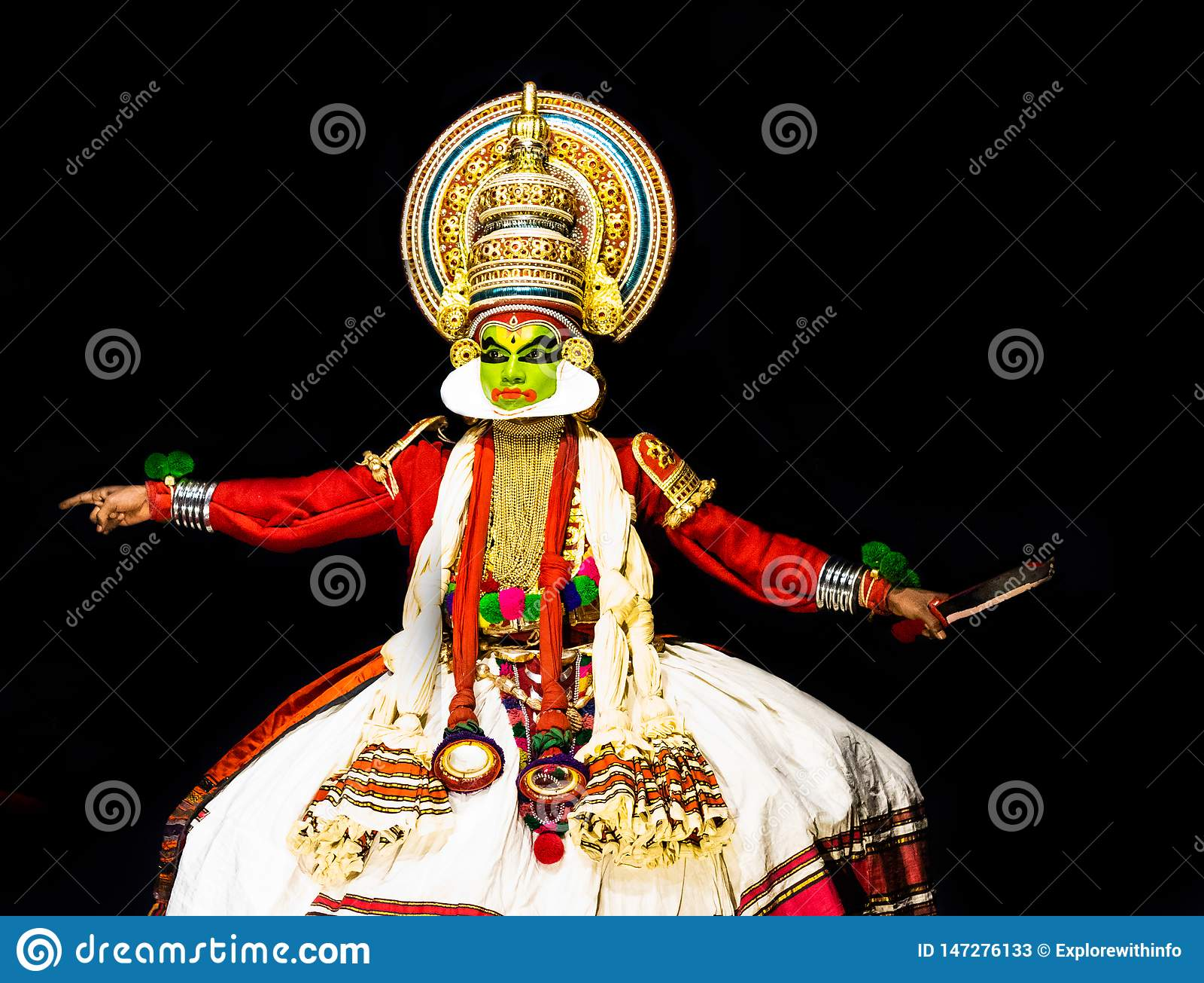 Kathakali Kerala Classical Dance Mens Body And Facial