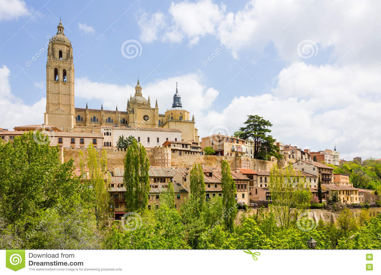 Kathedraal in de historische stad van Segovia, Castilla en Leon, Spai