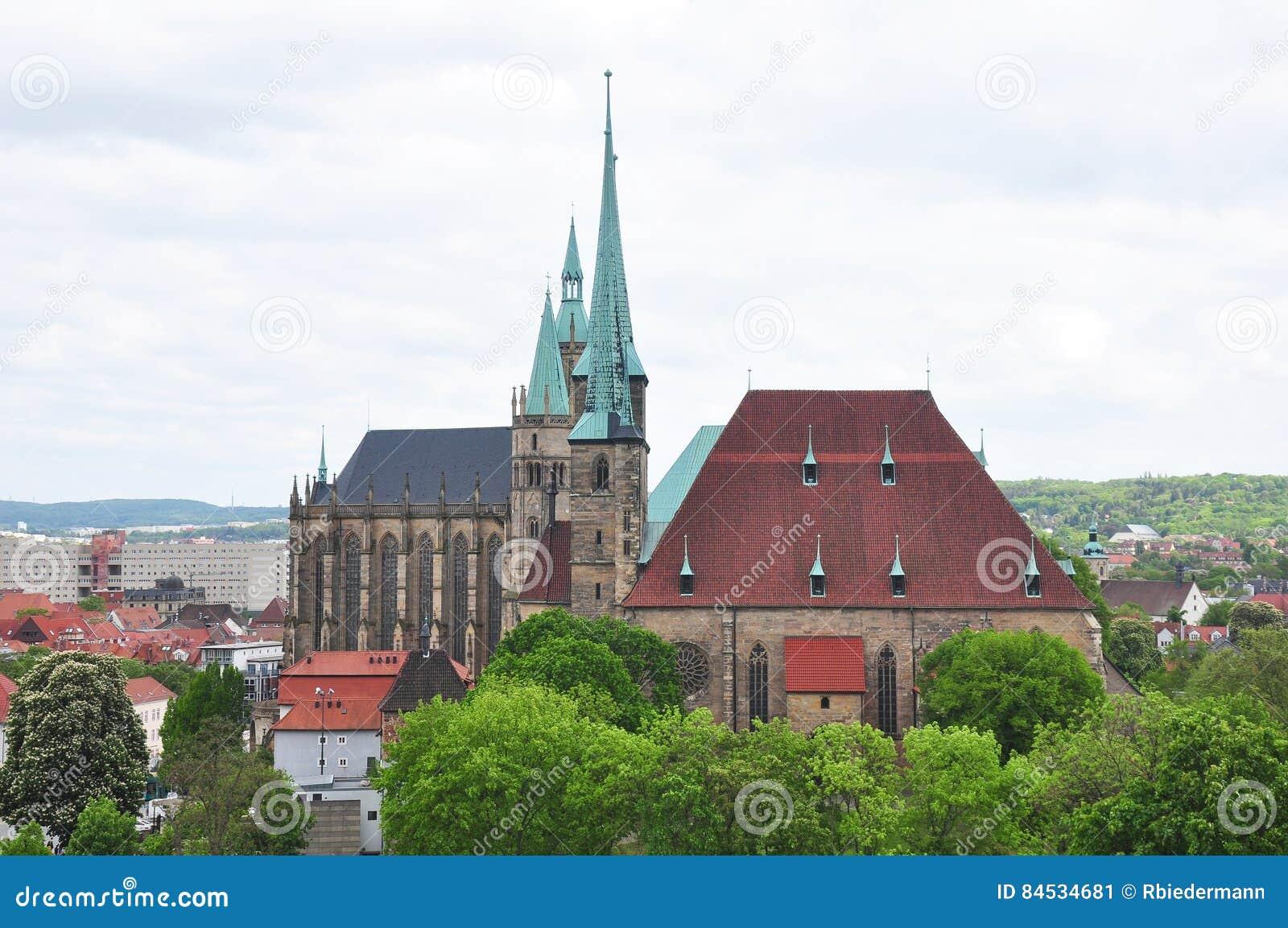 Kathedraal en Kerk van Heilige Severus in Erfurt