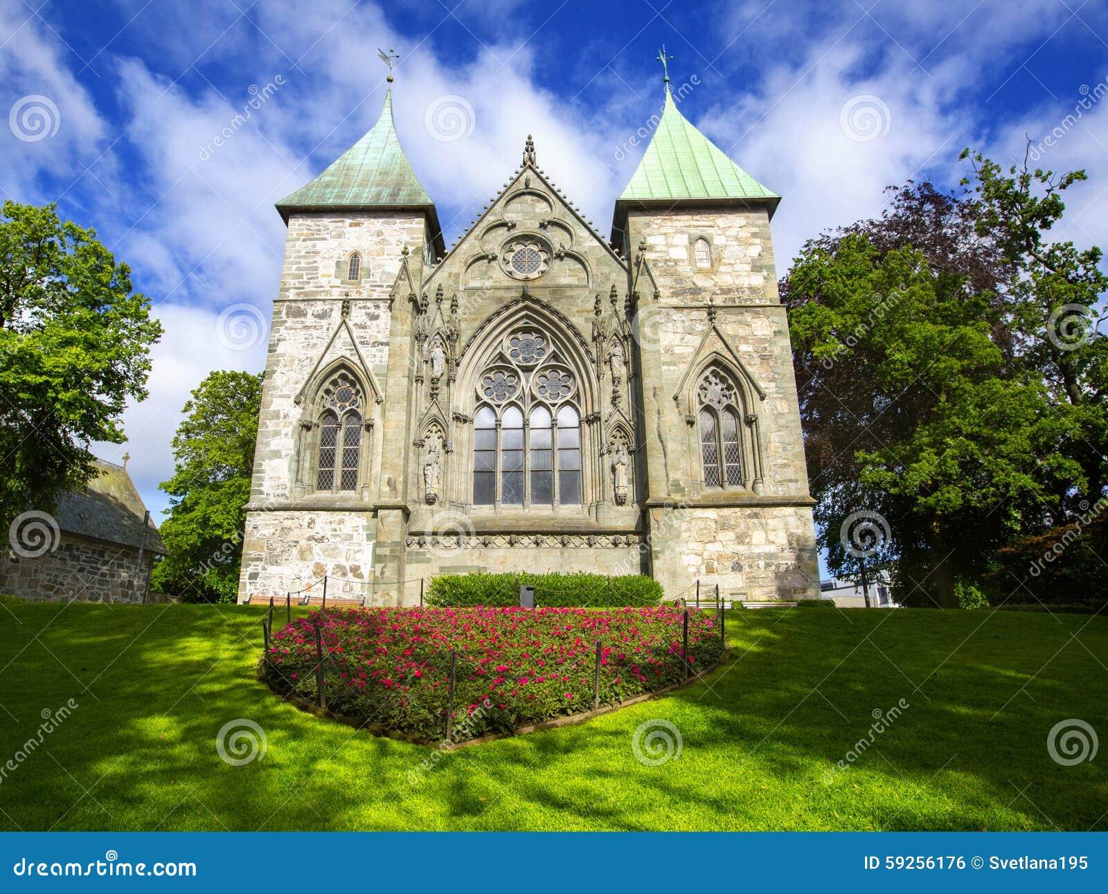 Kathedraal in Stavanger noorwegen