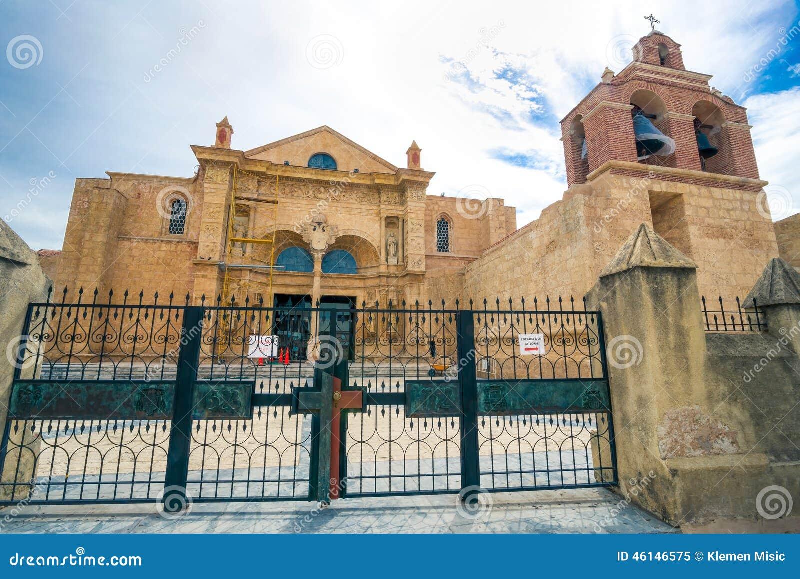 Kathedraal van La Menor van Kerstmanmarãa in de Koloniale Streek van Santo Domingo, Dominicaanse Republiek