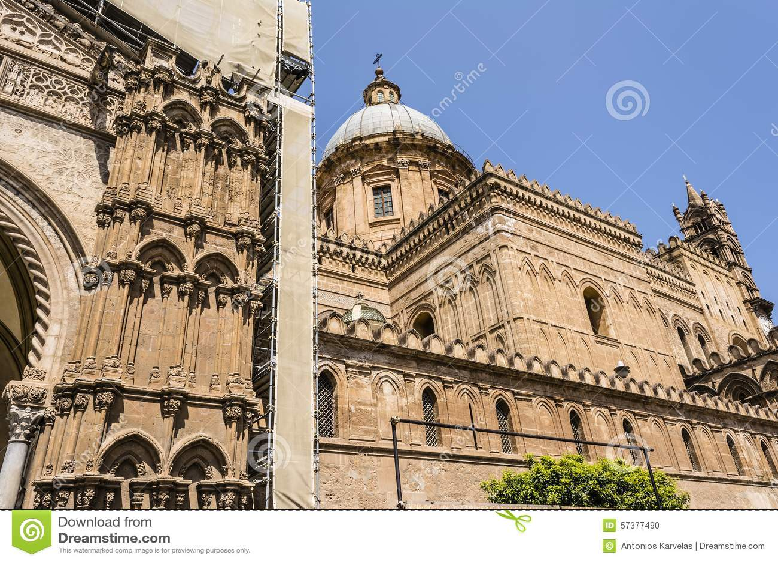 Kathedraal van Palermo in Sicilië, Italië