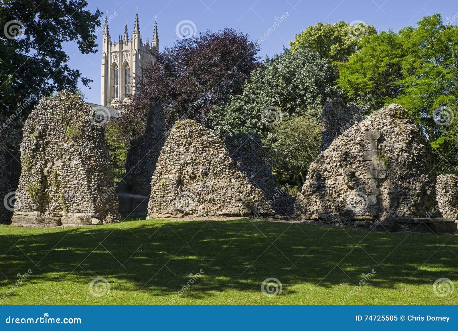 Kathedrale Bedecken-St. Edmunds Abbey Remains und St. Edmundsbury