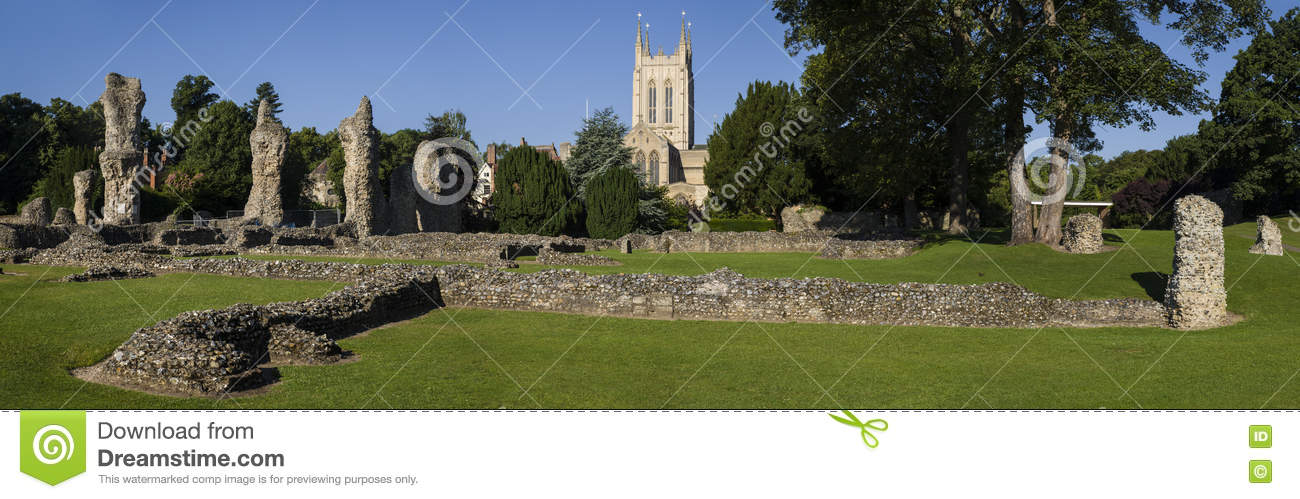 Kathedrale Bedecken-St. Edmunds Abbey Remains und St. Edmundsbury