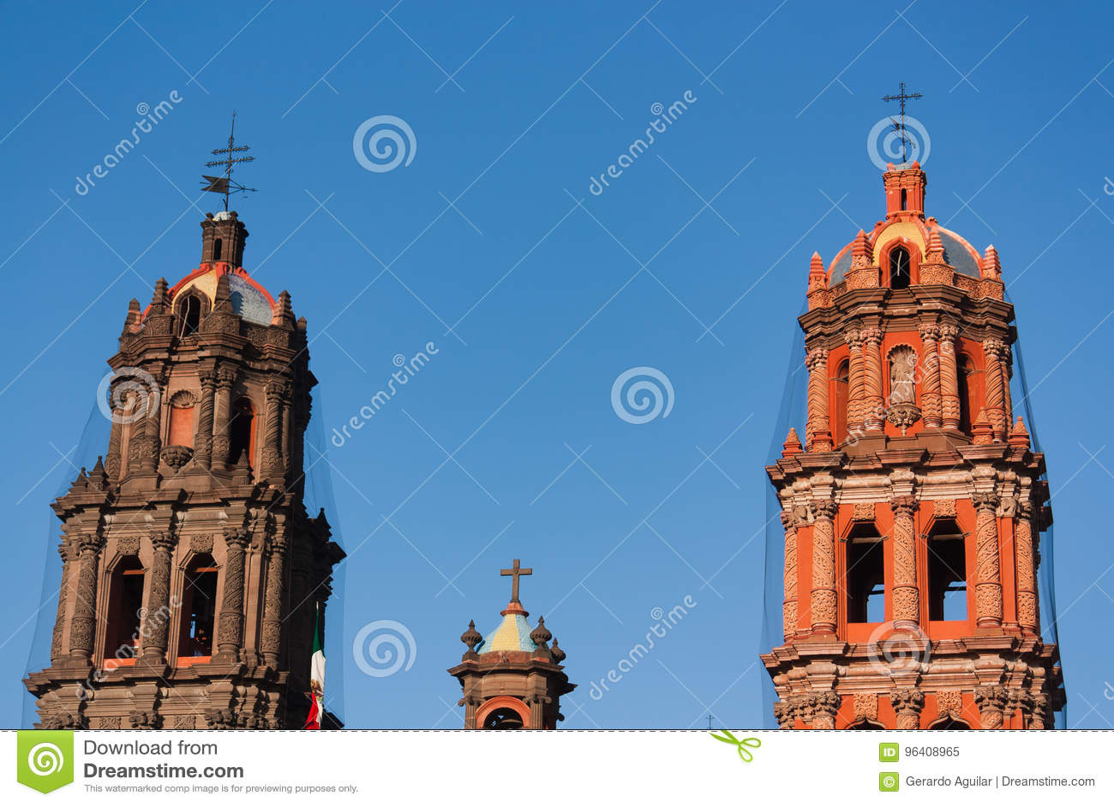 Kathedrale ragt Detail in San Luis Potosi hoch