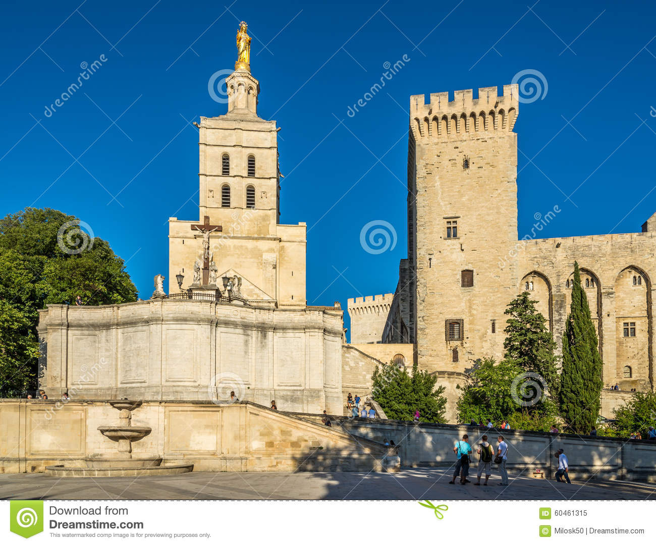 kathedrale von notre dame des doms in avignon redaktionelles bild bild von frankreich dame. Black Bedroom Furniture Sets. Home Design Ideas