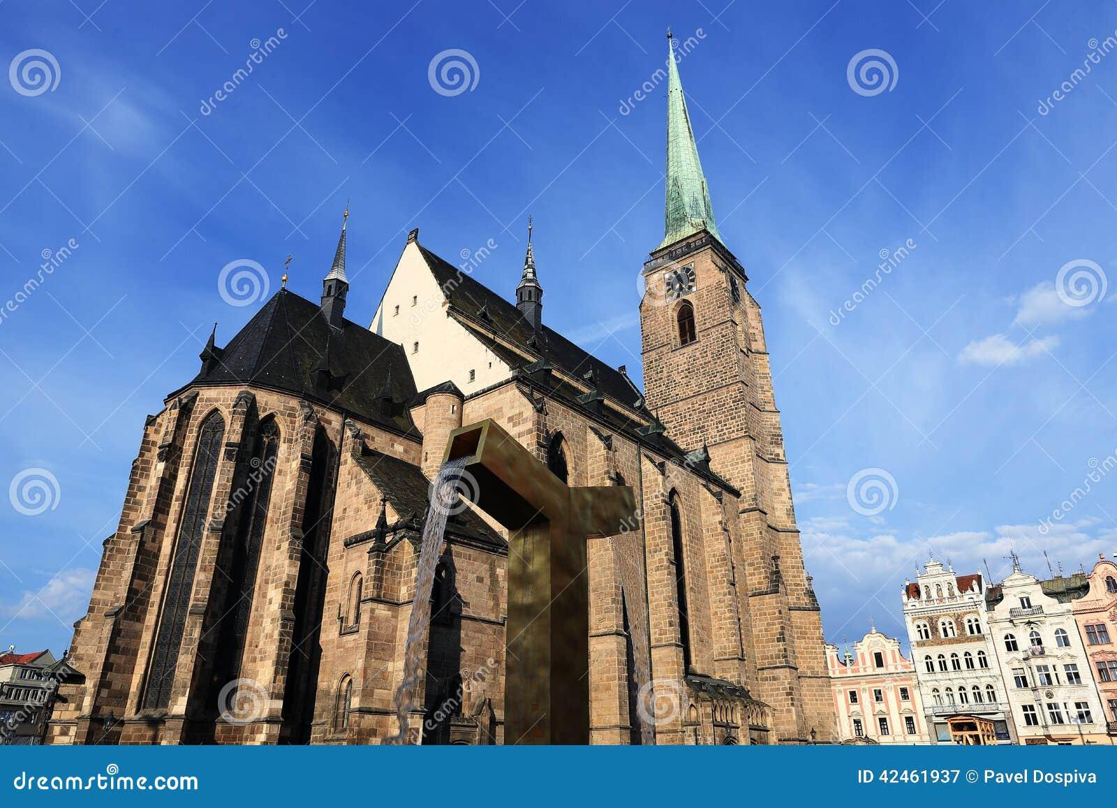 Kathedrale von St Bartholomew, alte Architektur, Pilsen, Tschechische Republik