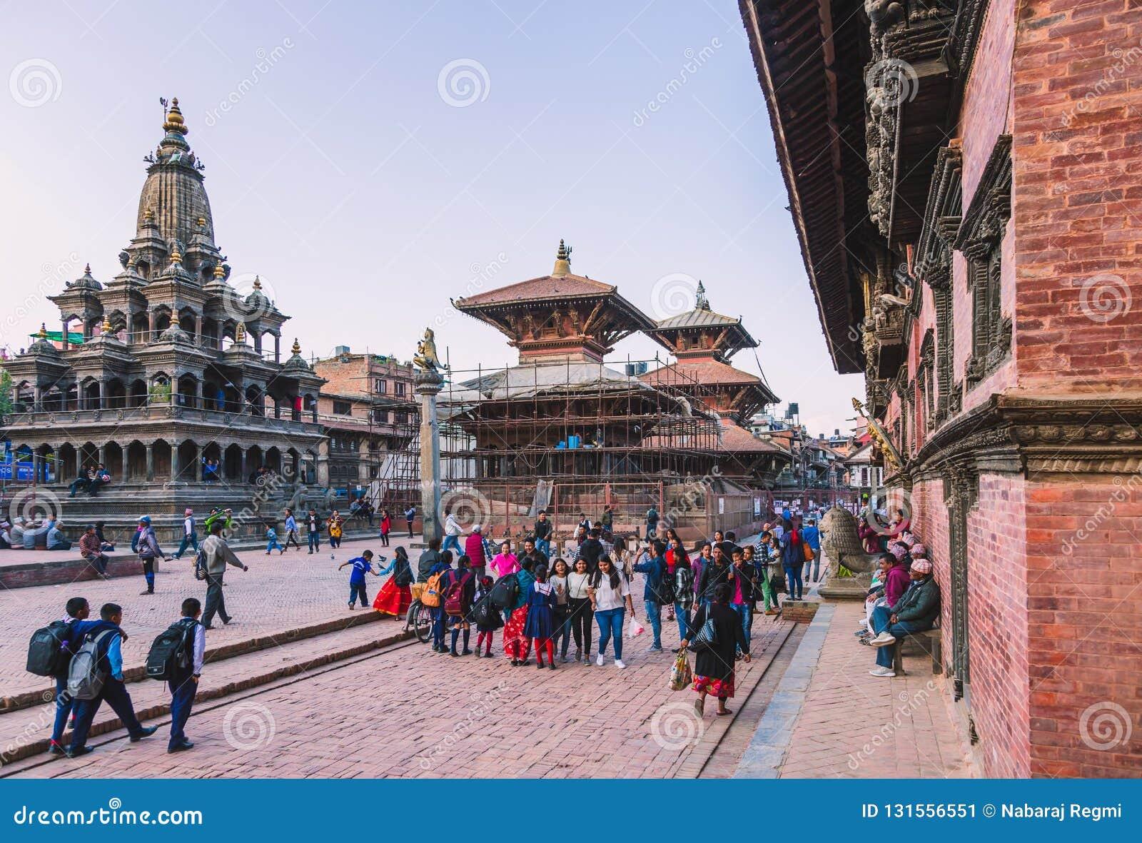 Kathmandu Nepal, Oct, - 26,2018: Patan świątynia, Patan Durbar kwadrat lokalizuje przy centre Lalitpur, Nepal Ja jest jeden