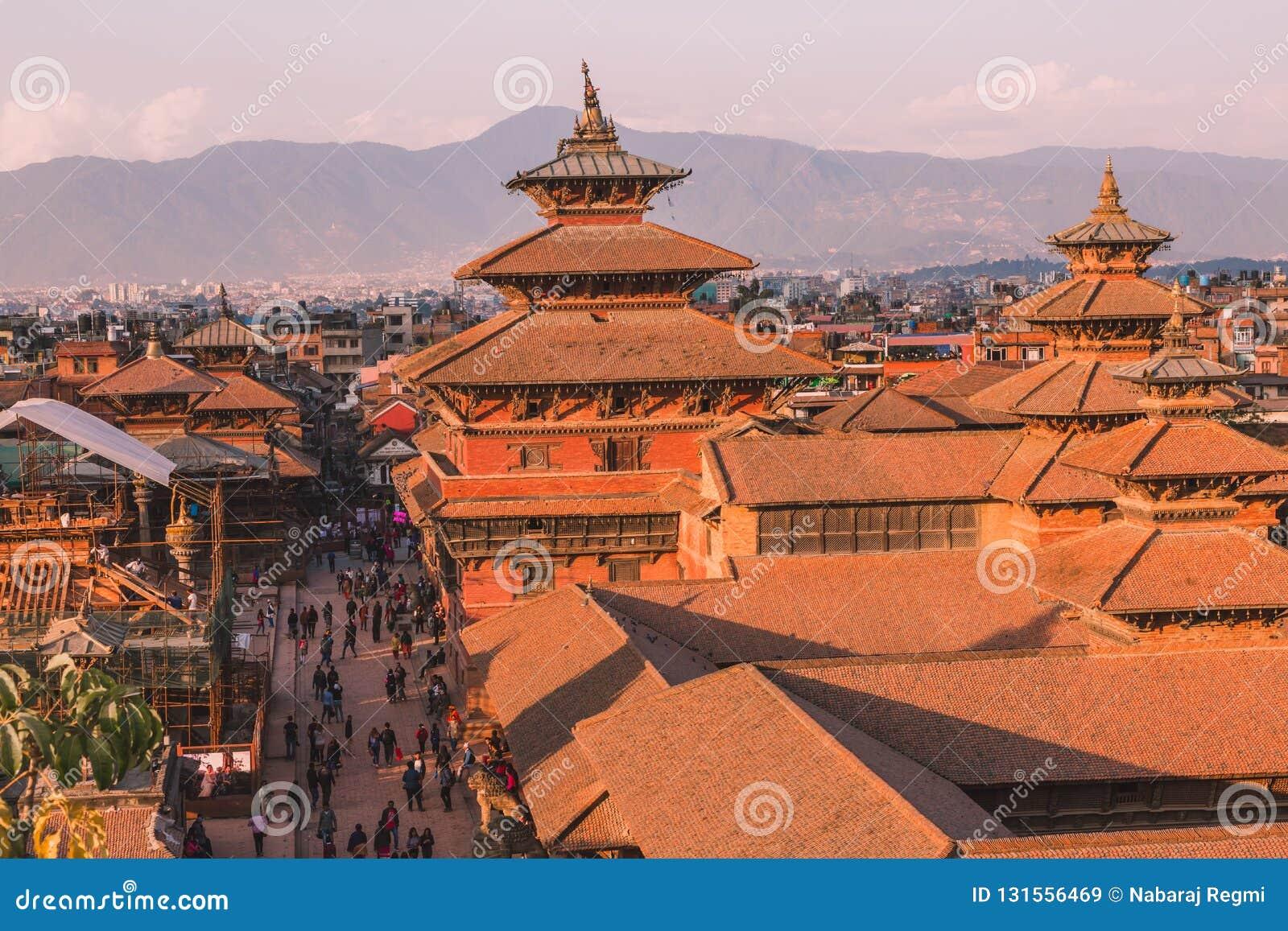 Kathmandu, Nepal - ottobre 26,2018: Il tempio di Patan, quadrato di Patan Durbar è situato al centro di Lalitpur, Nepal È uno del