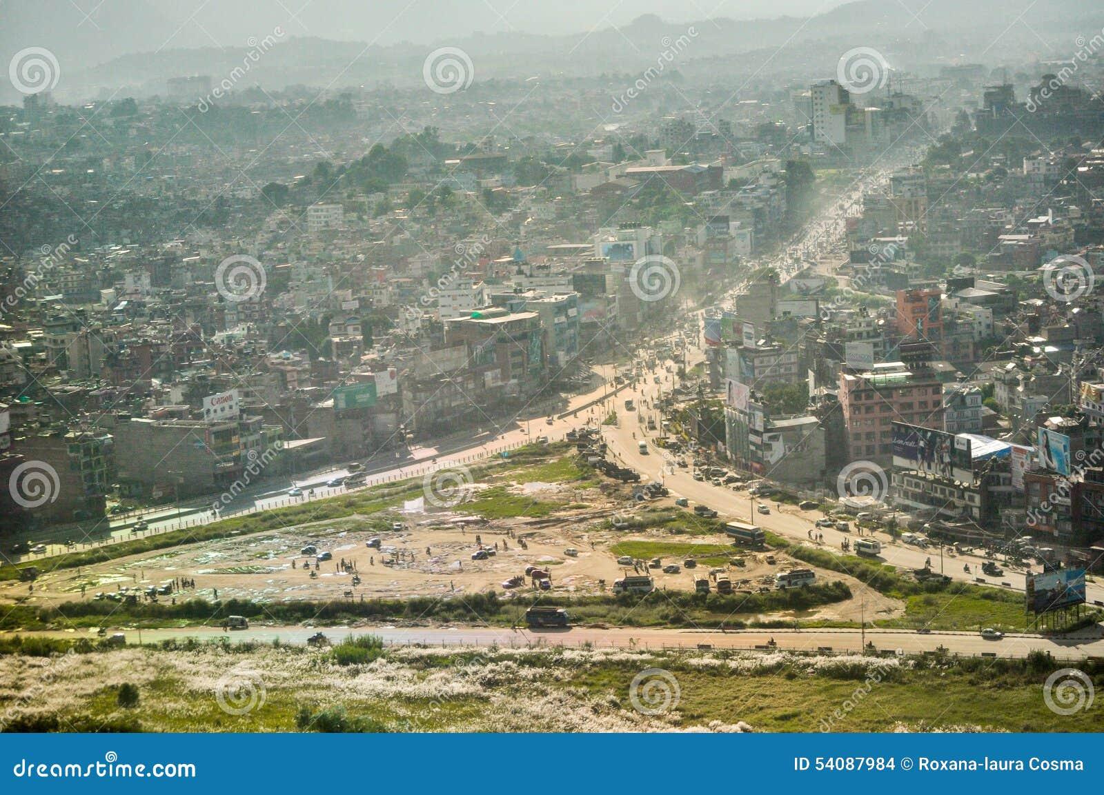 Katmandu van de lucht
