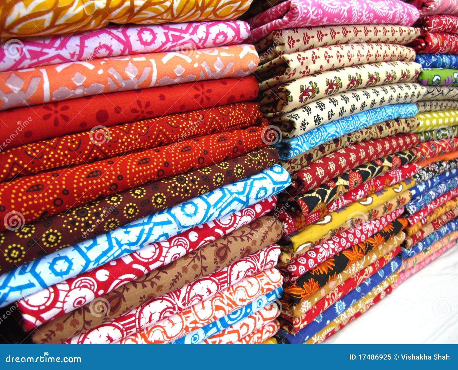 Katoenen stoffen royalty vrije stock foto afbeelding - Telas de la india online ...