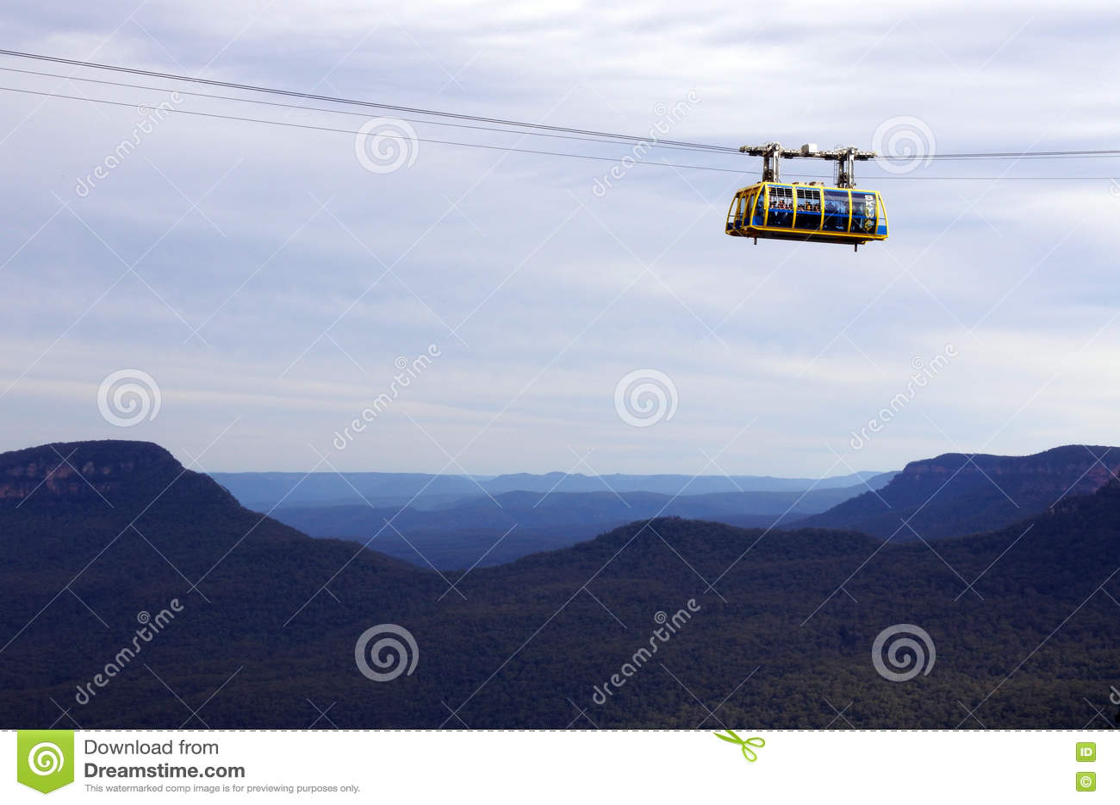 Katoomba Skyway scénique voyage à travers la gorge au-dessus du Katoom