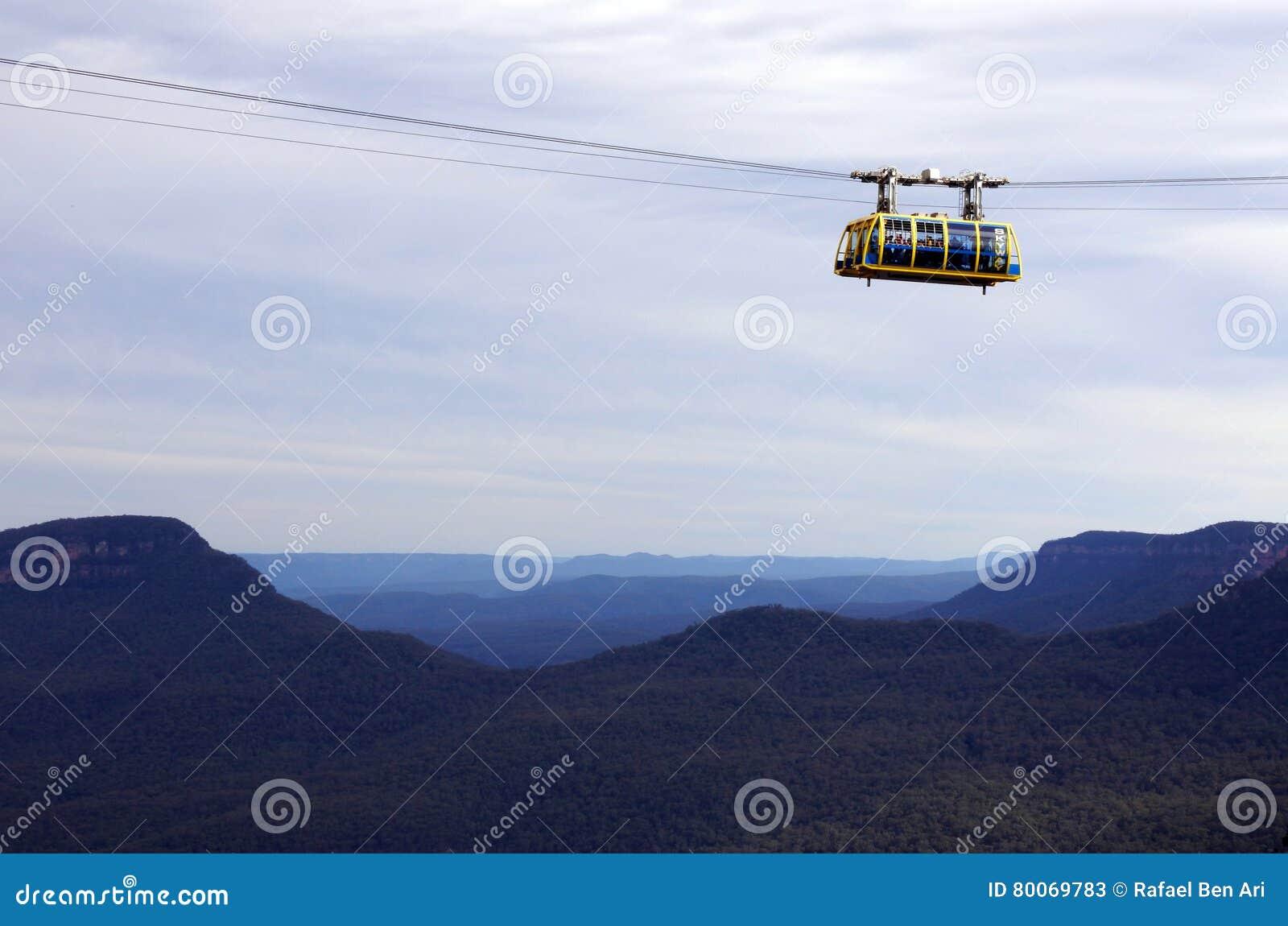 Katoomba szenisches Skyway reist über die Schlucht über dem Katoom