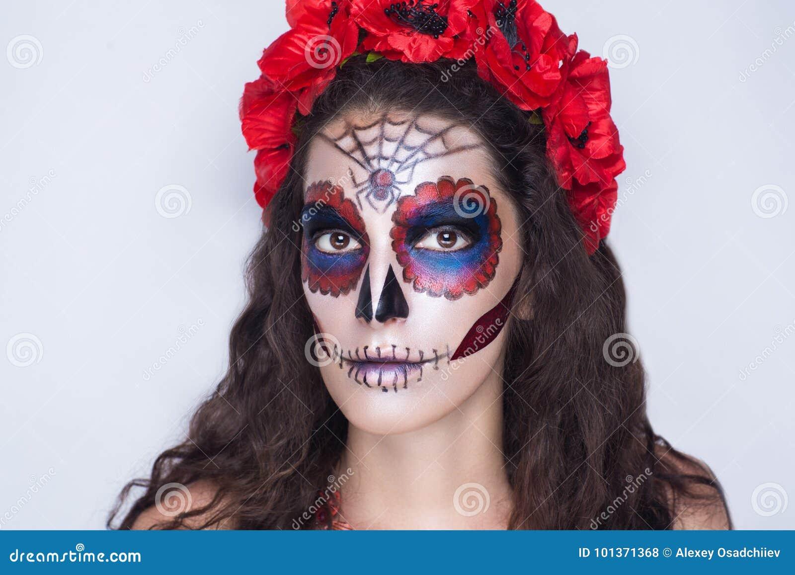download katrina calavera make up stock photo image of black 101371368