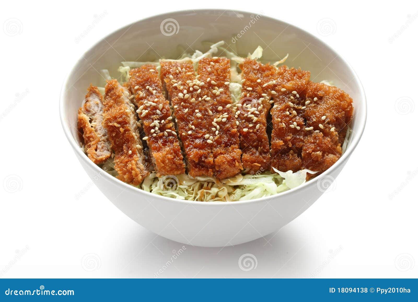 Katsudon ( Pork Cutlet Bowl ), Japanese Food Royalty Free ...