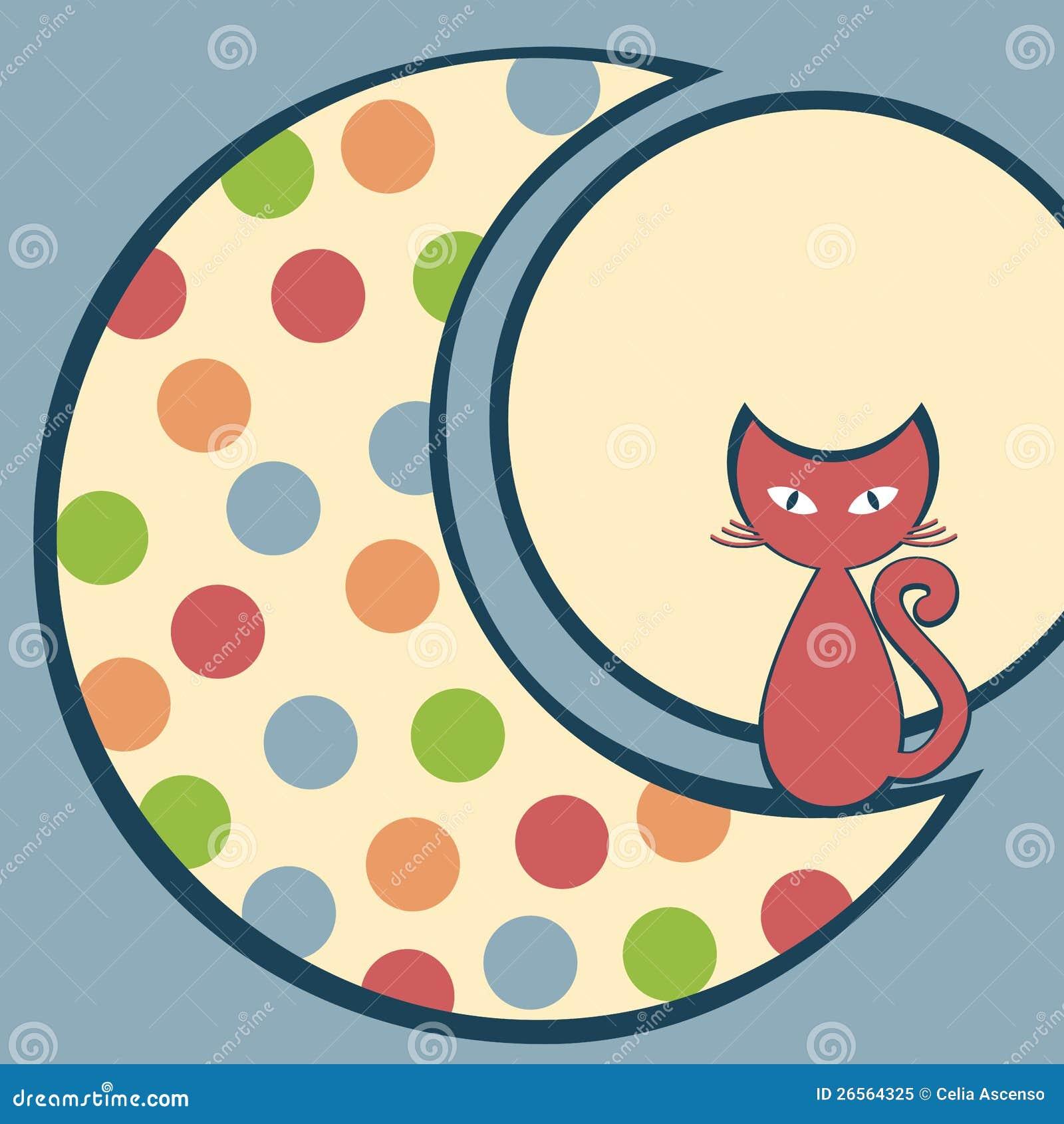 Katt i Moonhälsningskortet