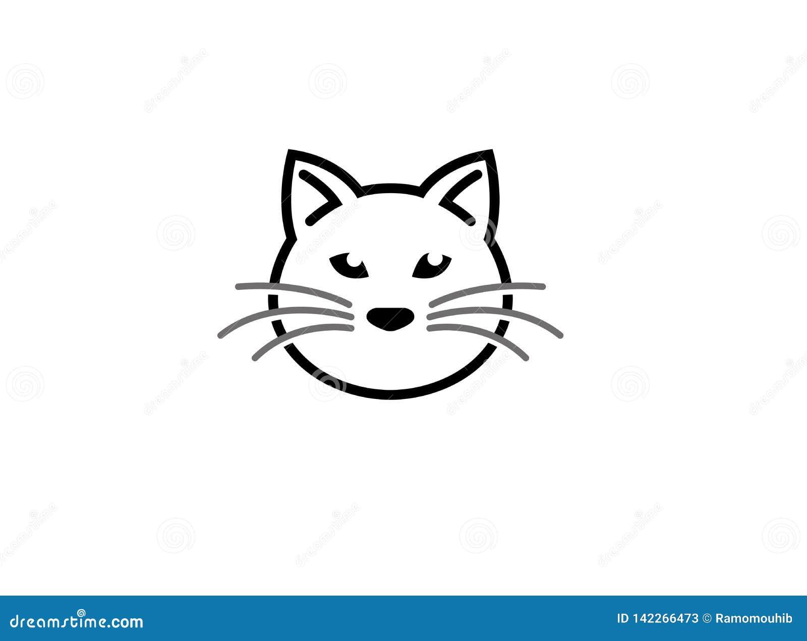 Kattenhoofd en gezichtsembleem